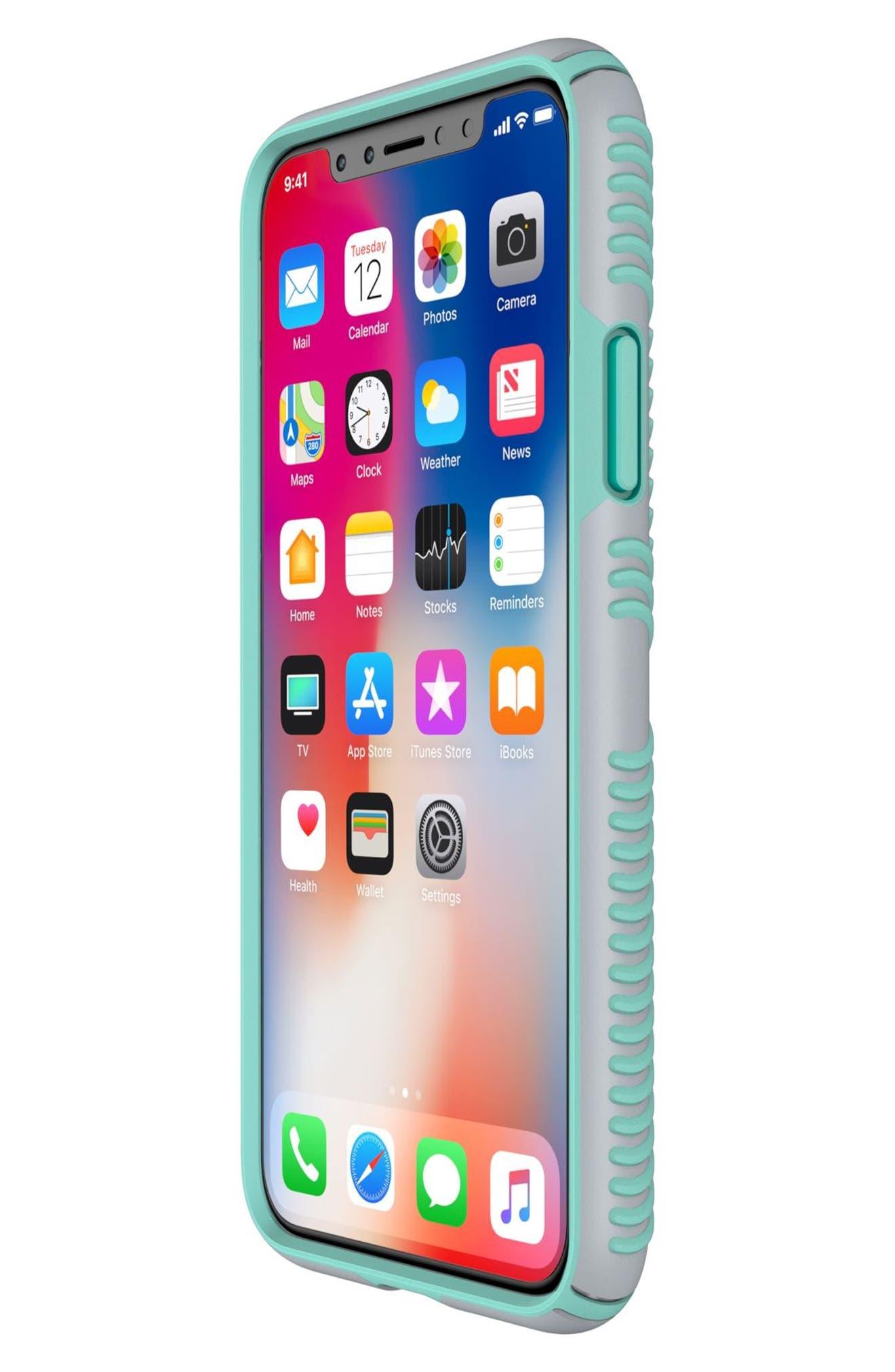 iPhone X Case,                             Alternate thumbnail 7, color,                             Dolphin Grey/ Aloe Green