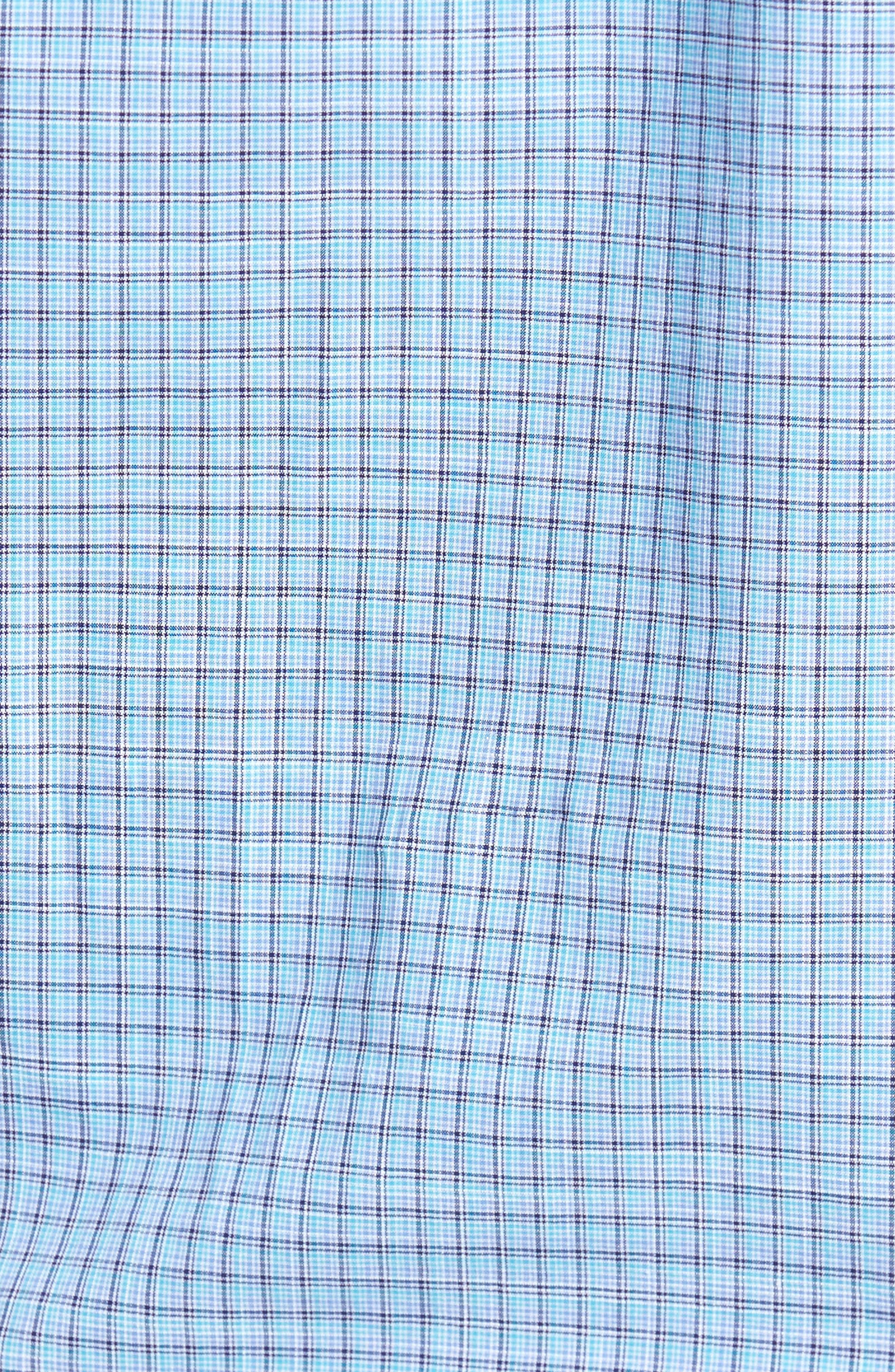 Dunleavy Check Sport Shirt,                             Alternate thumbnail 5, color,                             Blue