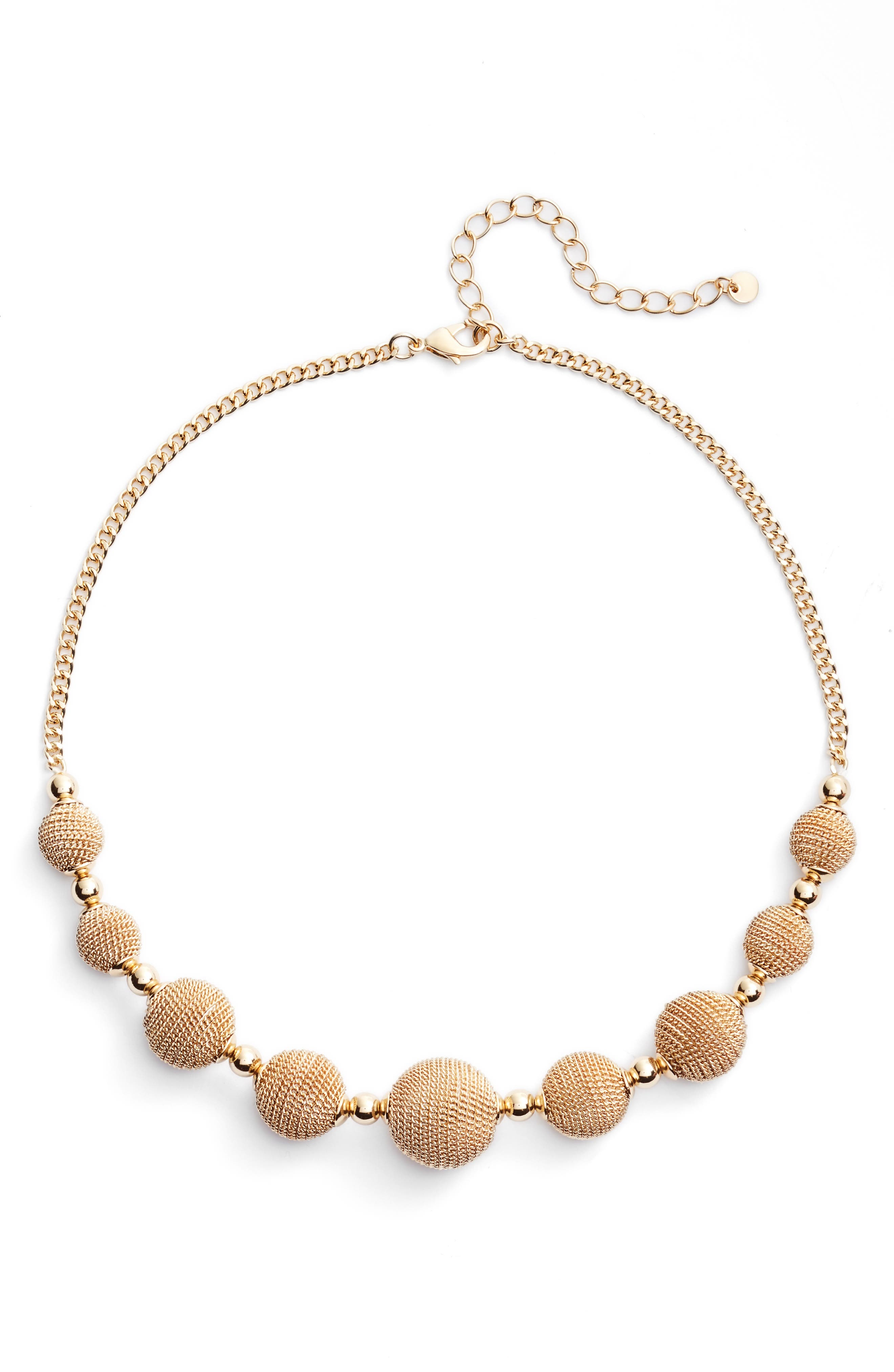 Alternate Image 1 Selected - Halogen® Textured Charm Collar Necklace