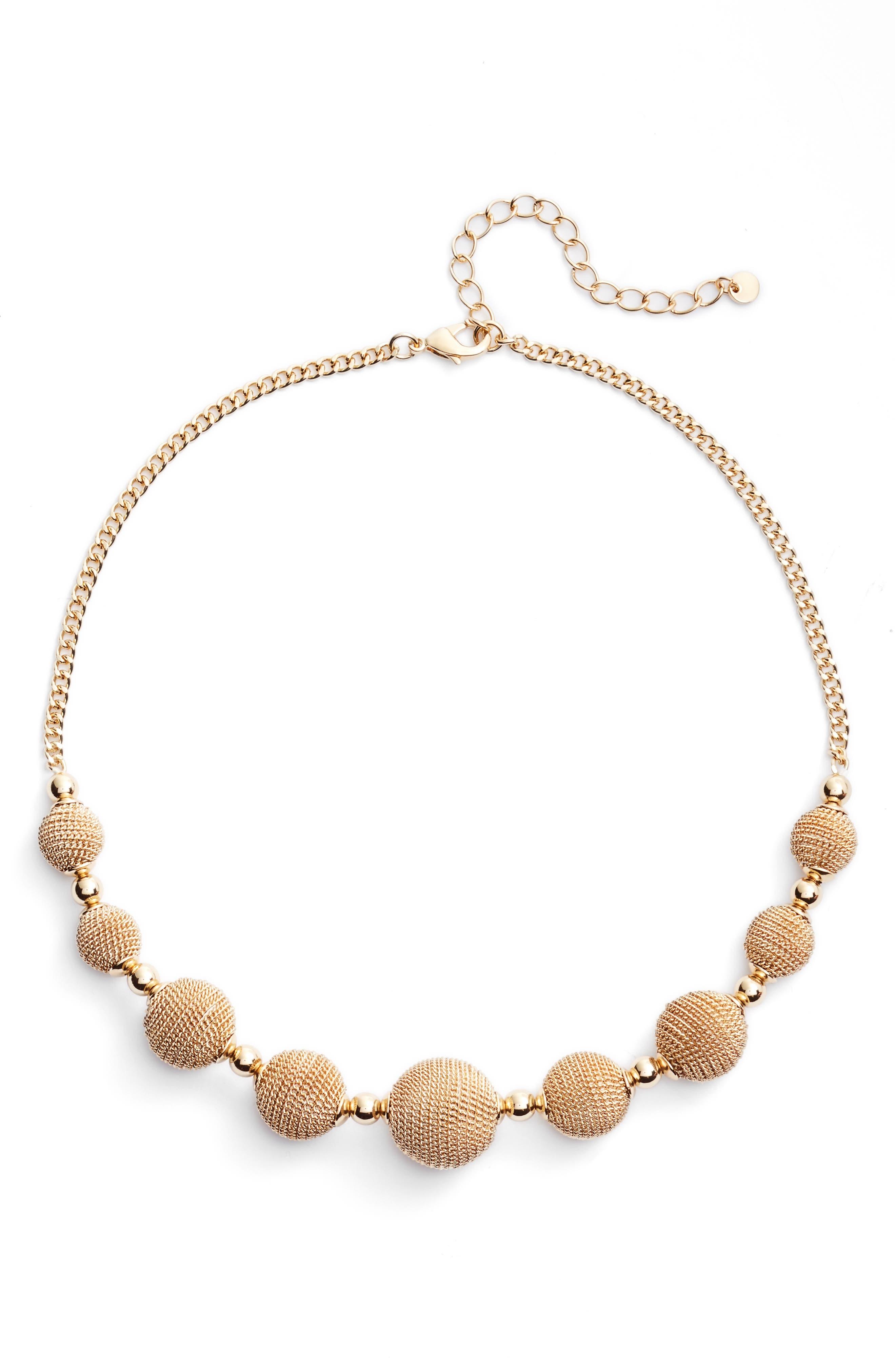 Main Image - Halogen® Textured Charm Collar Necklace