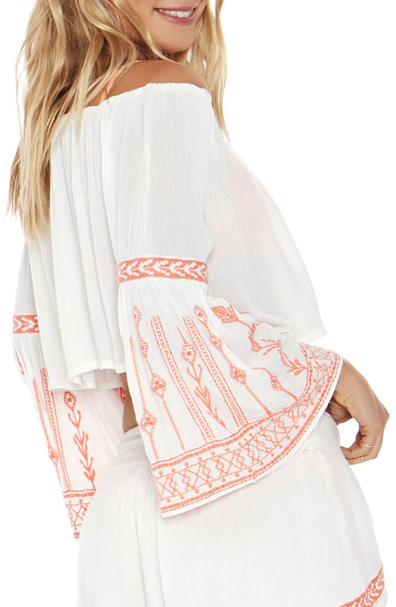 Crawford Cover-Up Top,                             Alternate thumbnail 2, color,                             Ivory
