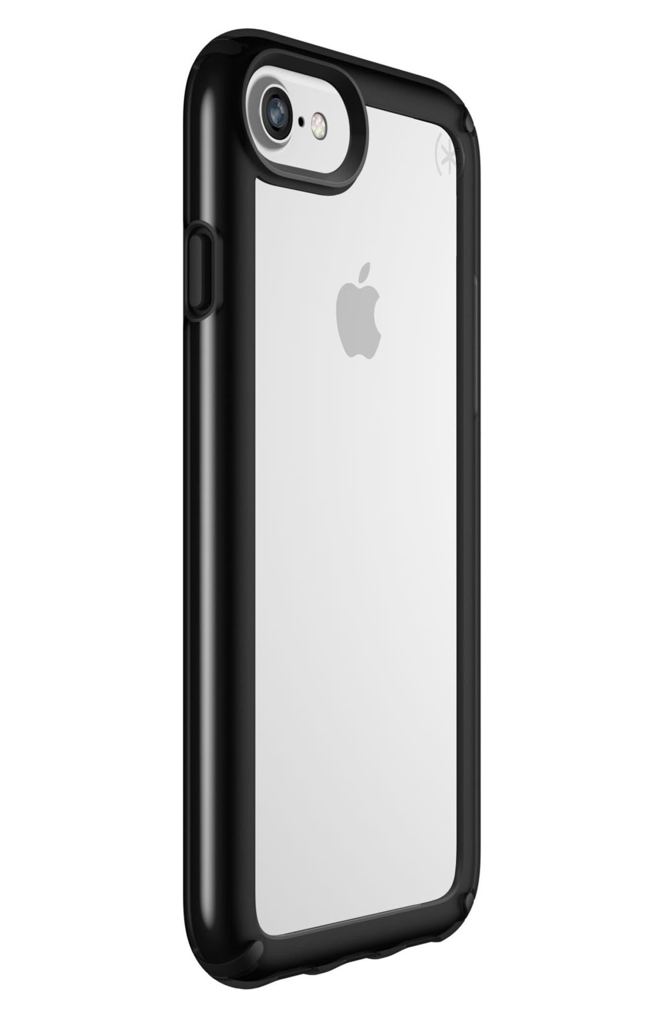Transparent iPhone 6/6s/7/8 Case,                             Alternate thumbnail 6, color,                             Clear/ Black