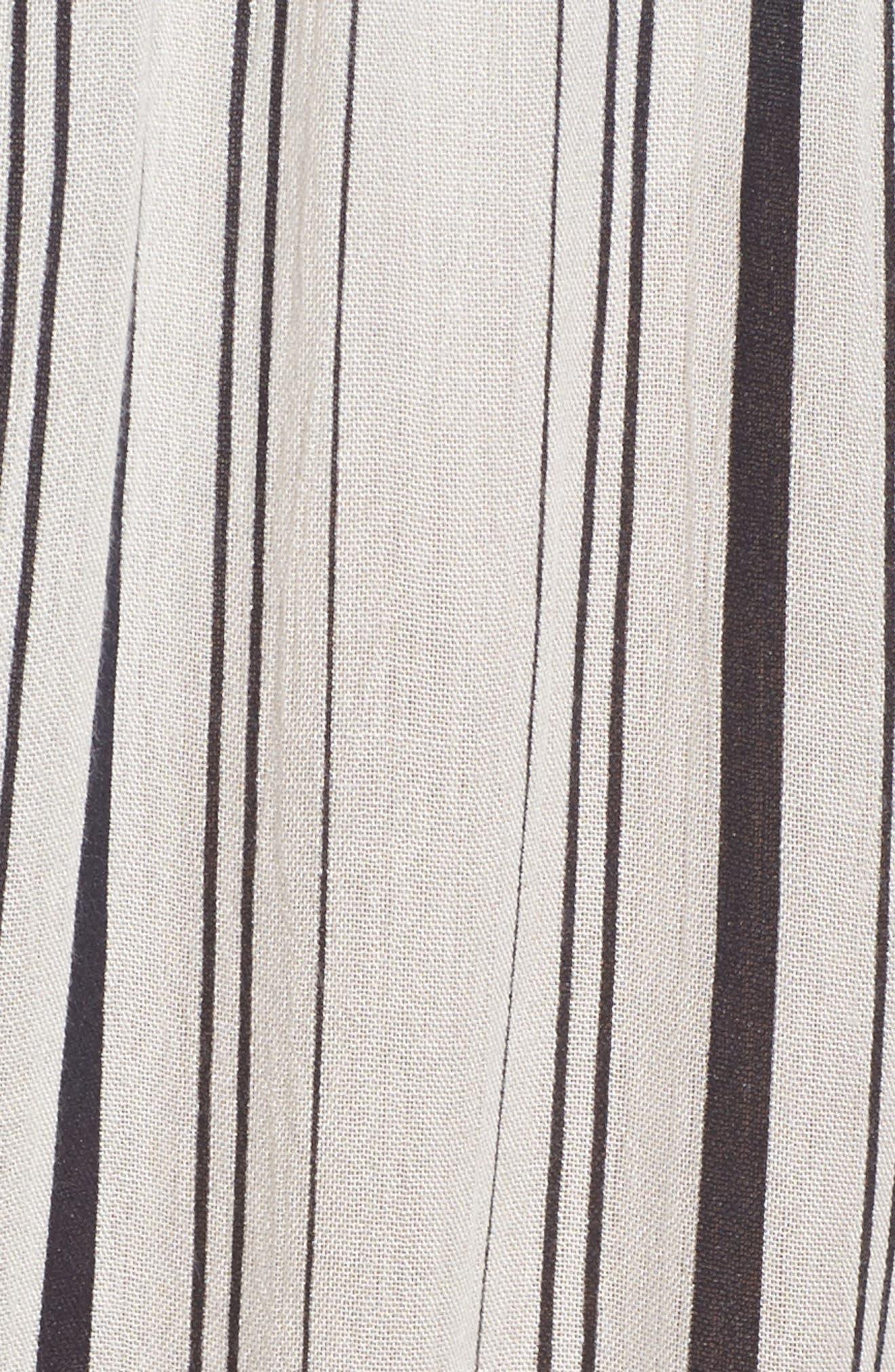 Faustine Jumpsuit Cover-Up,                             Alternate thumbnail 5, color,                             White/ Black