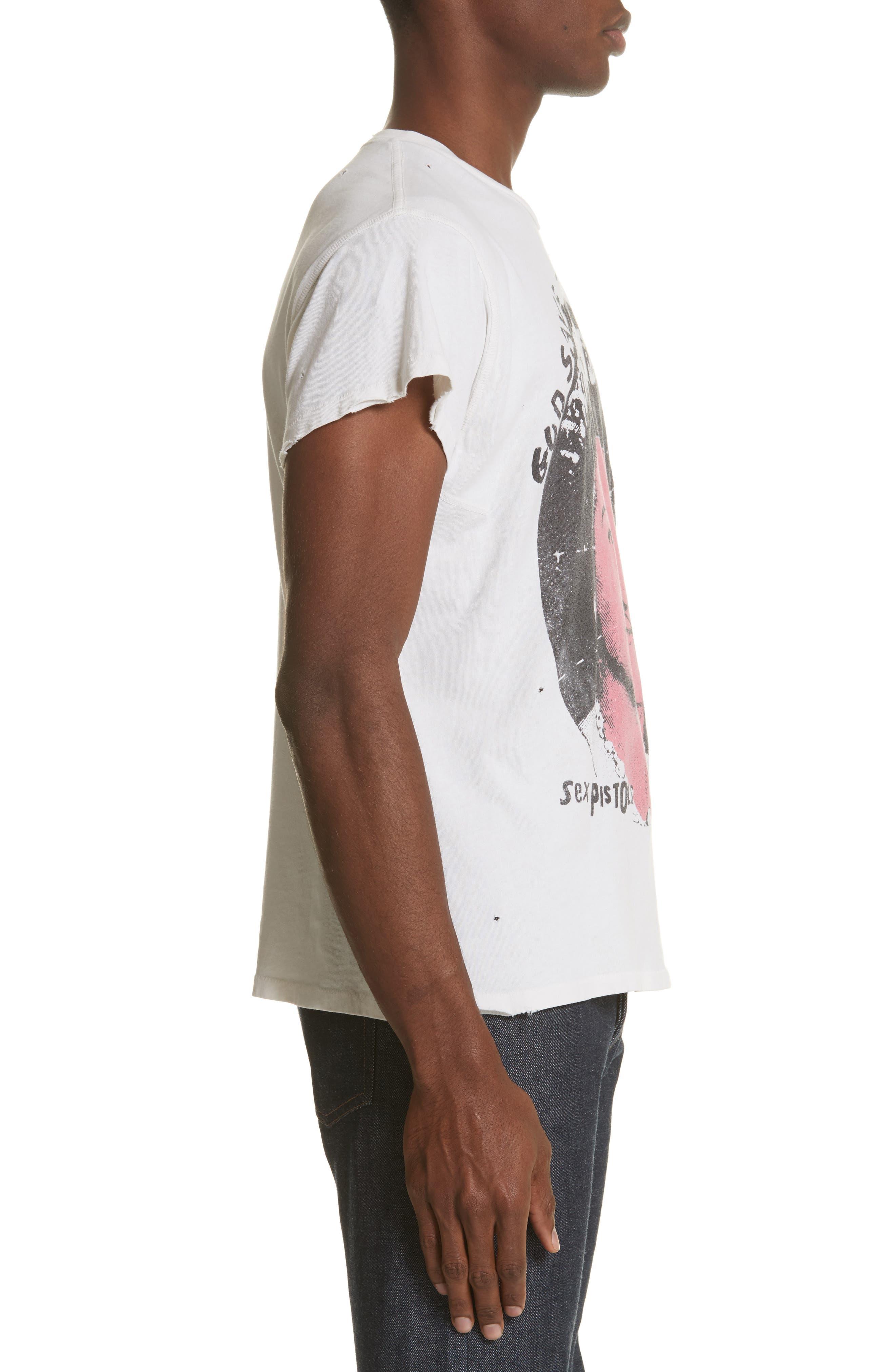 Sex Pistols Graphic T-Shirt,                             Alternate thumbnail 3, color,                             Off White
