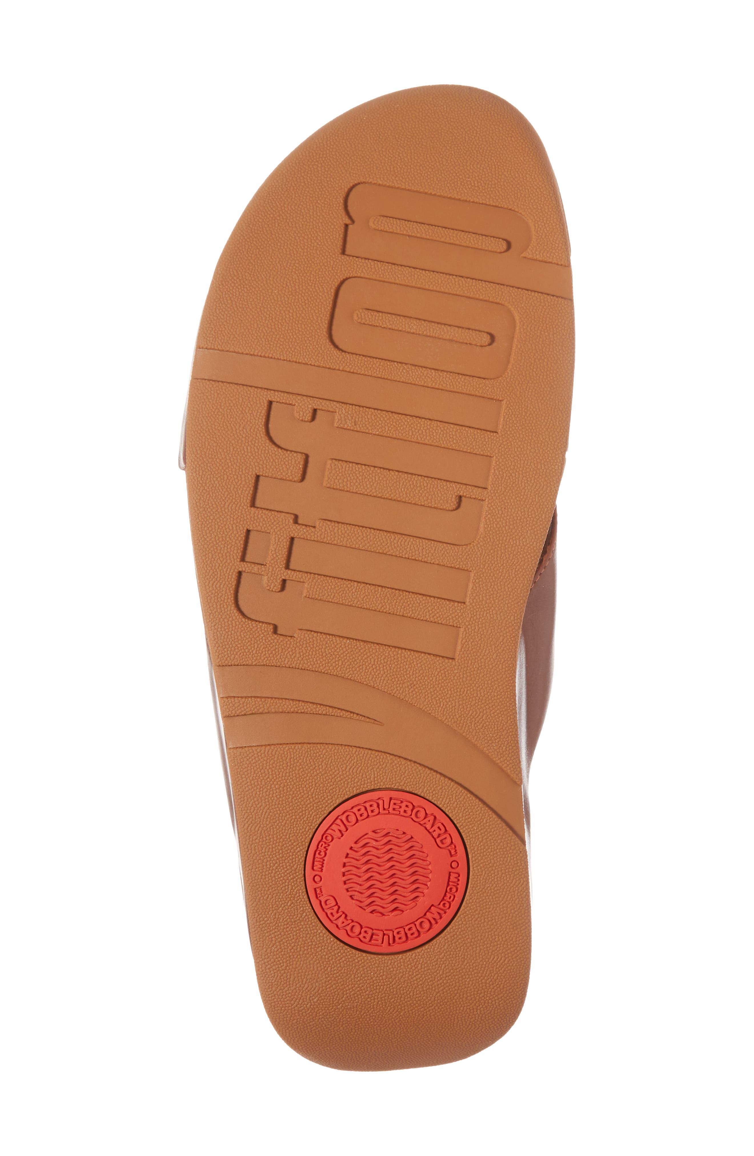 Lulu Cross Slide Sandal,                             Alternate thumbnail 6, color,                             Cognac