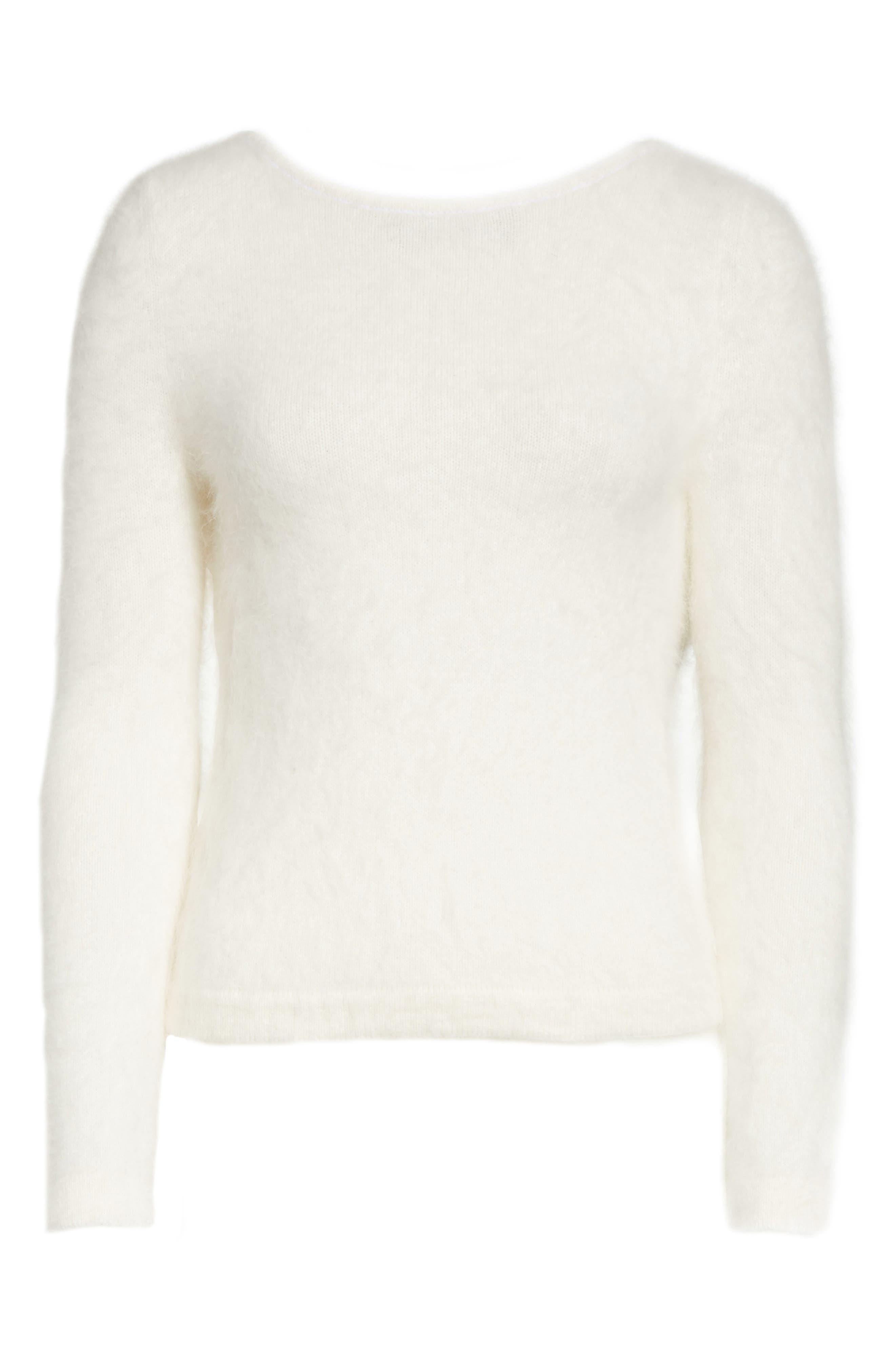 Alternate Image 6  - Brandon Maxwell Drape Back Angora Blend Sweater