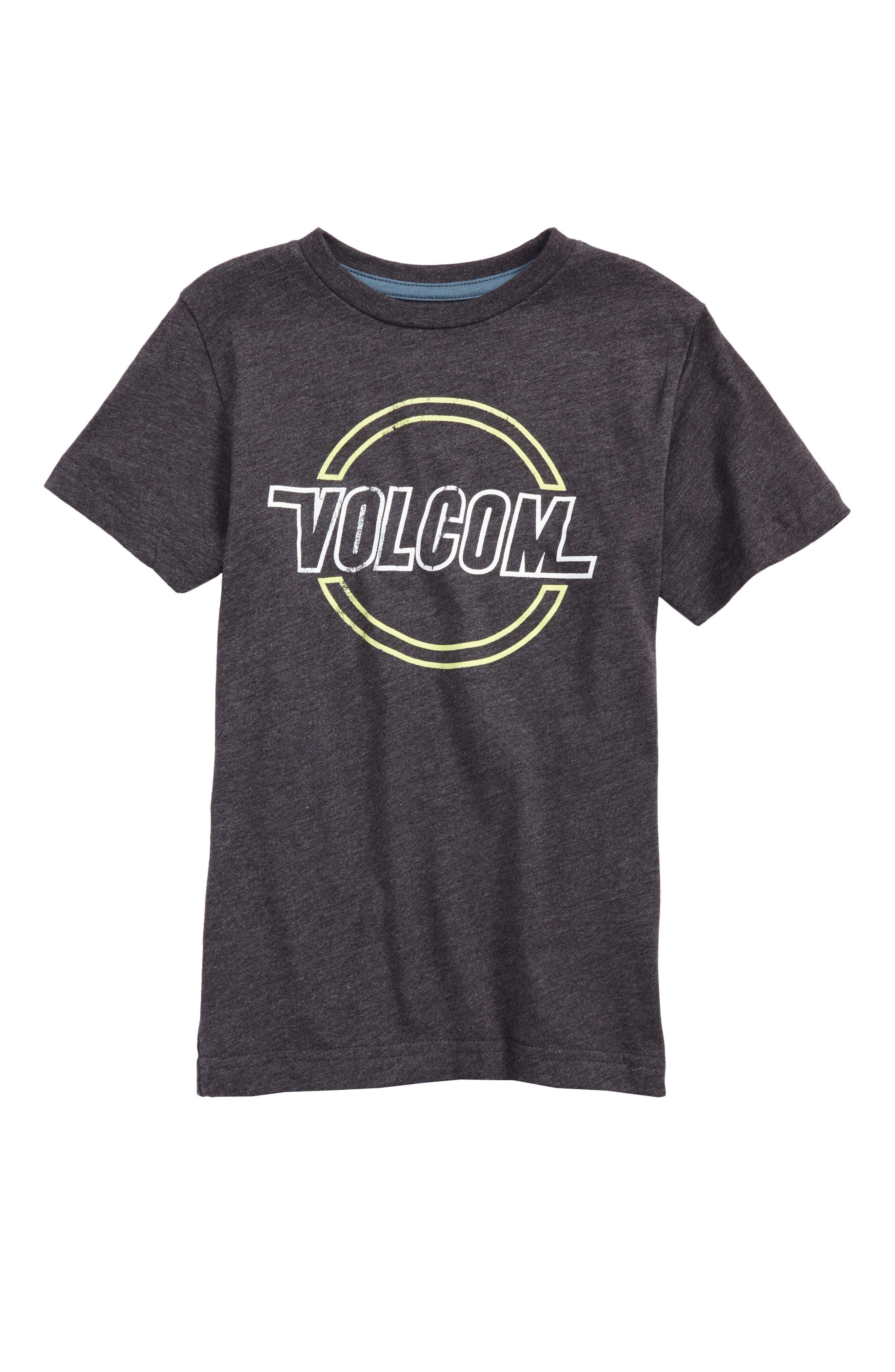 Lo-Tech Logo Graphic T-Shirt,                         Main,                         color, Heather Black