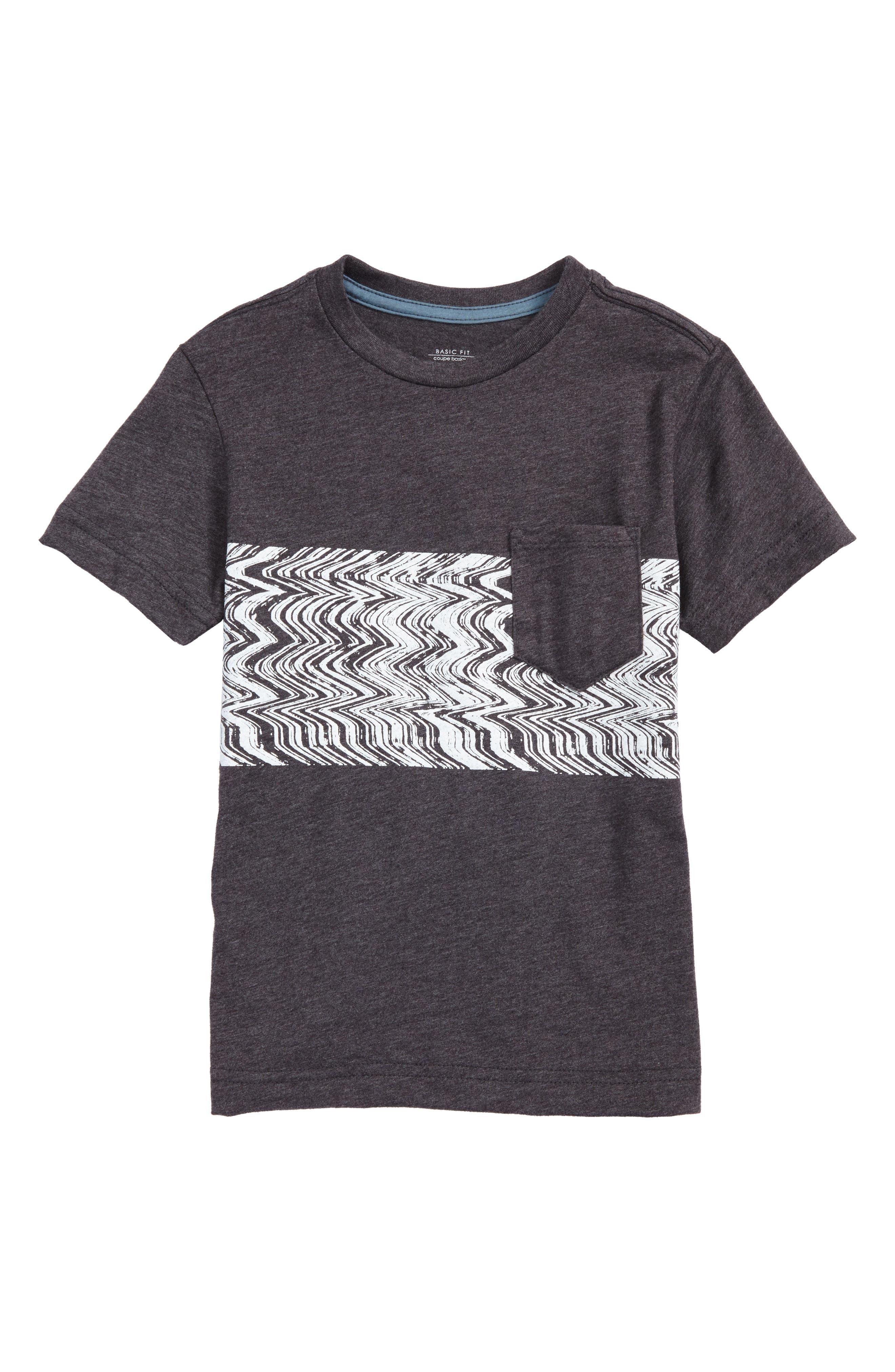 Lo-Fi Colorblock Pocket T-Shirt,                             Main thumbnail 1, color,                             Heather Black