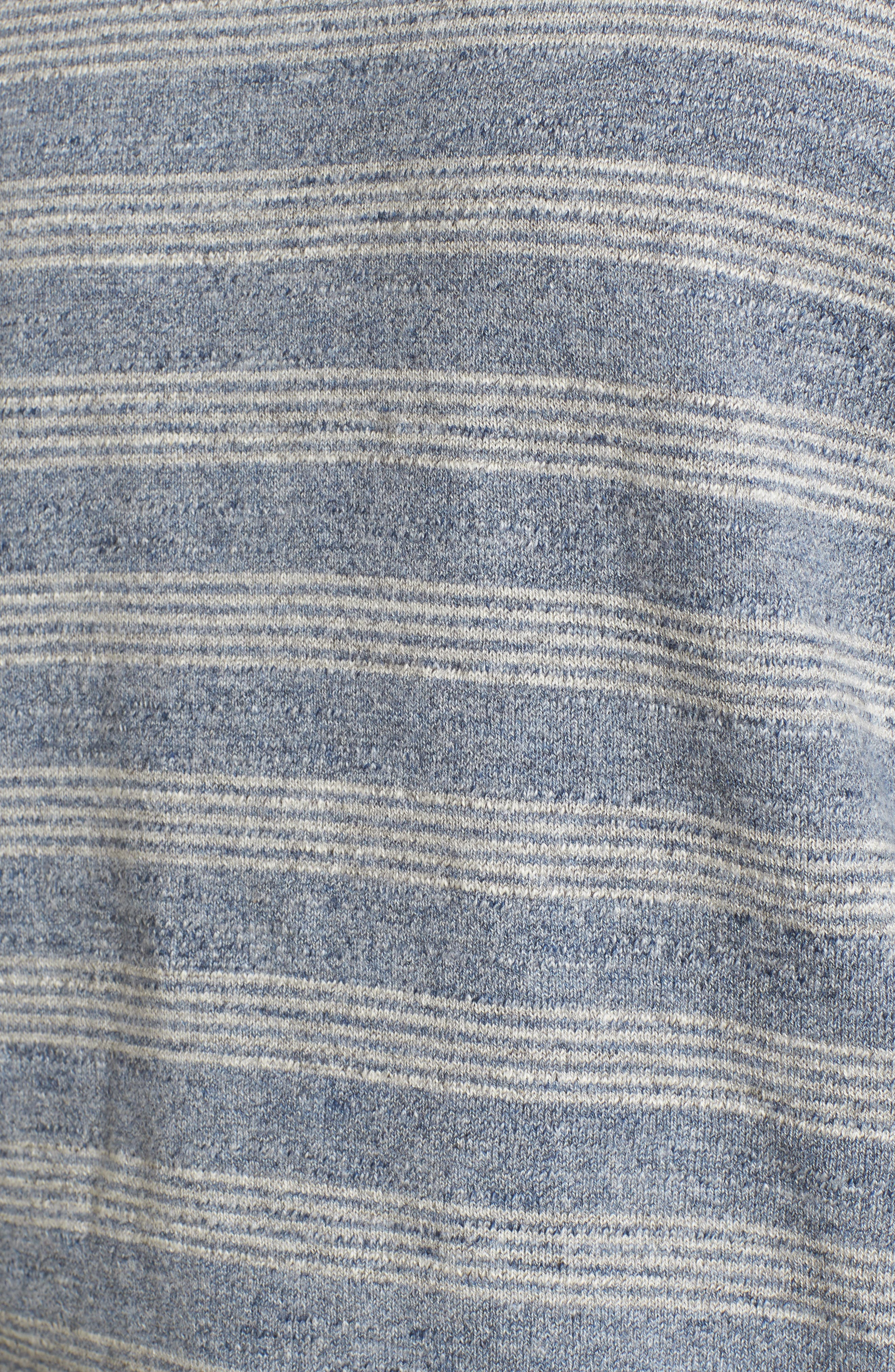 Stripe Cotton Sweater,                             Alternate thumbnail 5, color,                             Blue Grey Heather Stripe