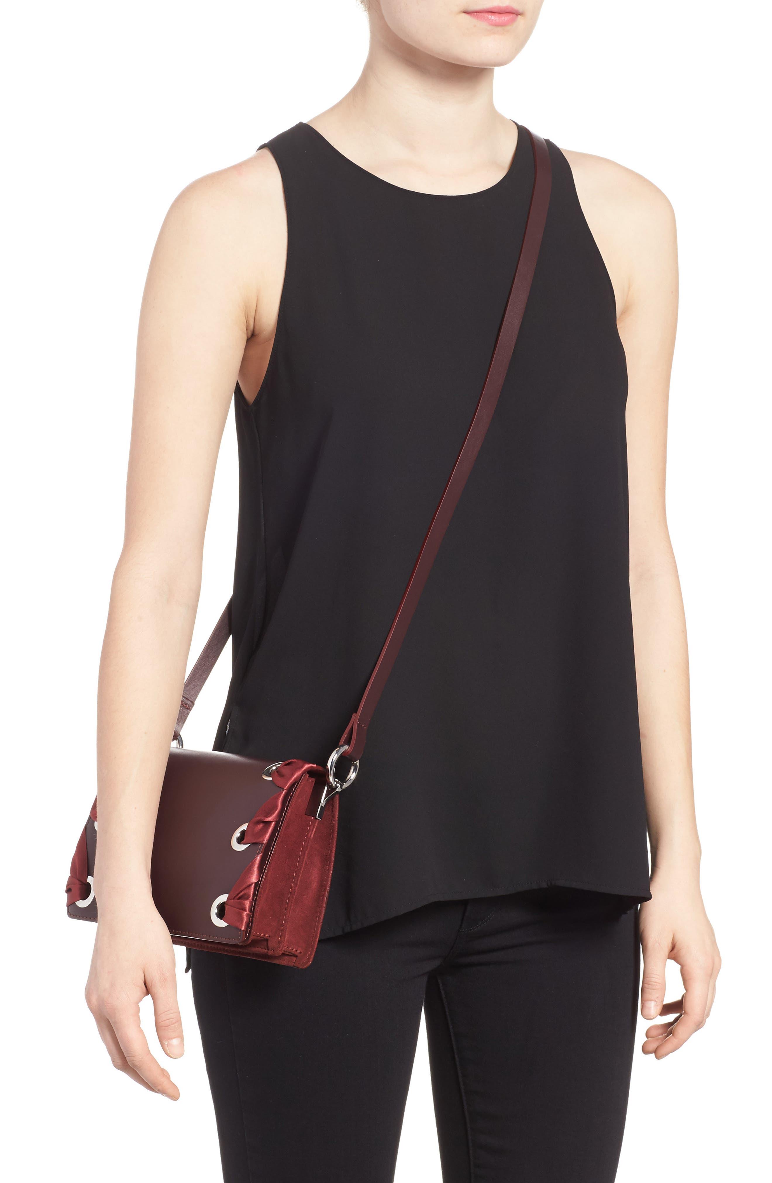 Alternate Image 2  - Topshop Premium Leather Grace Crossbody Bag