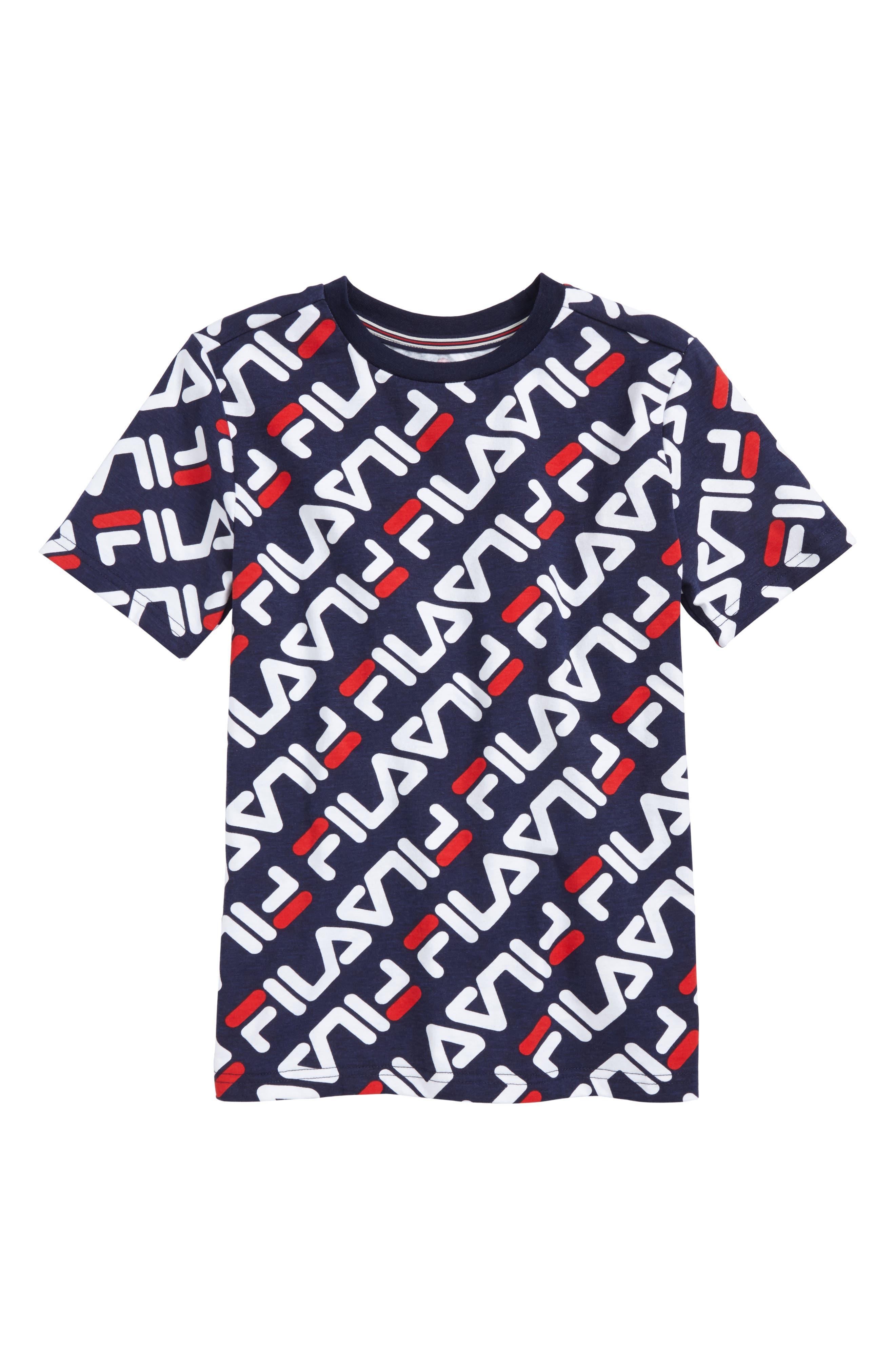 Alternate Image 1 Selected - FILA Angled Logo Print T-Shirt (Big Boys)