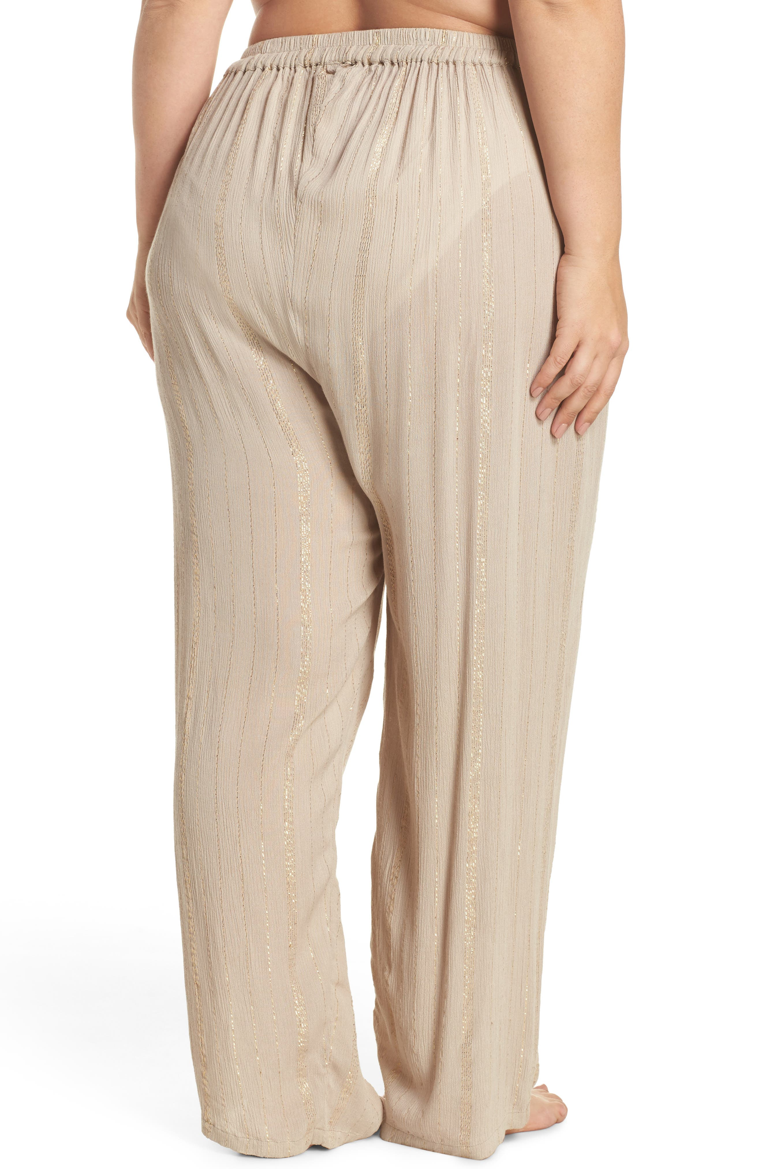 Iris Cover-Up Pants,                             Alternate thumbnail 2, color,                             Taupe/ Gold