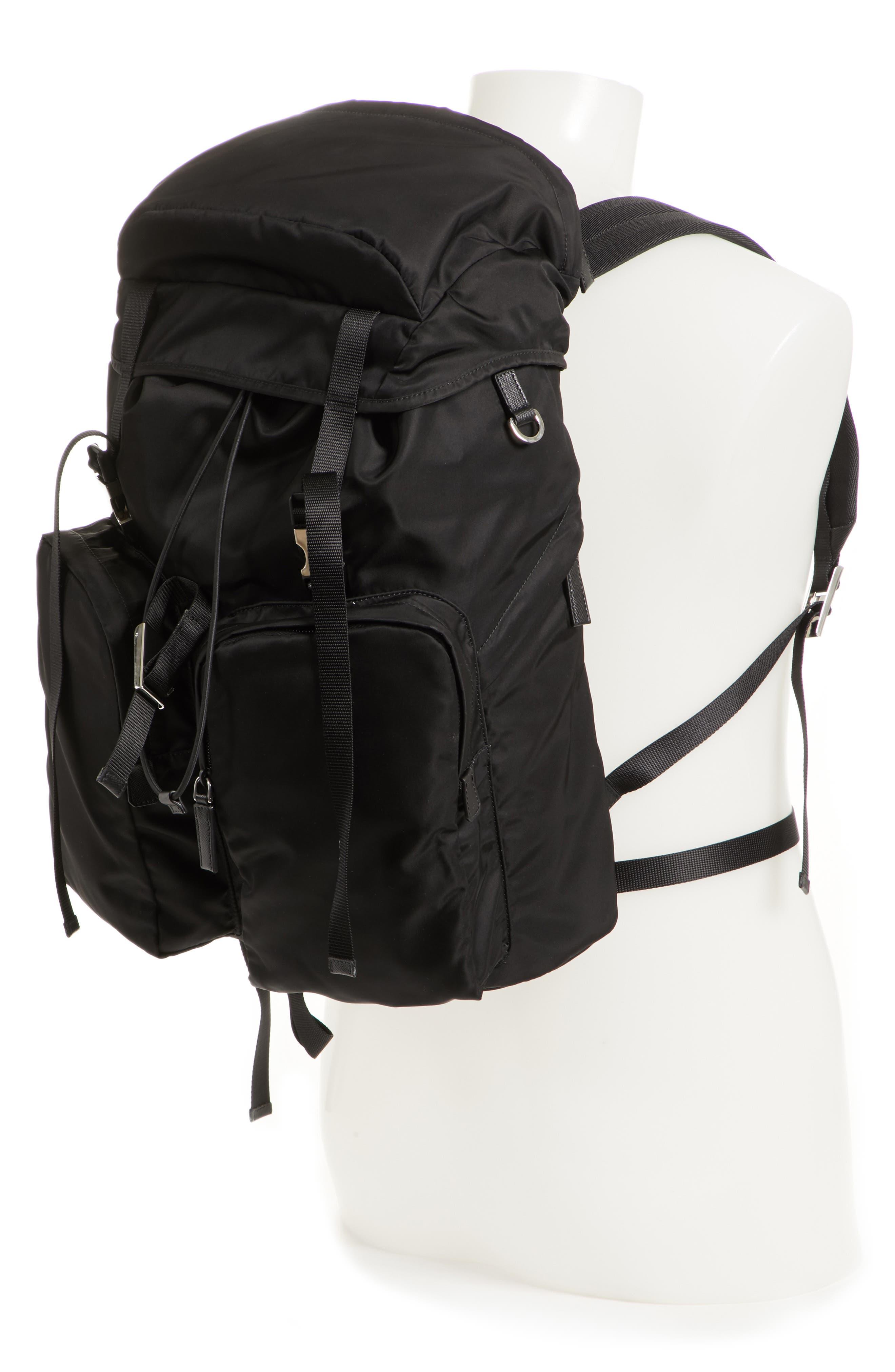 Montagna Flap Double Pocket Backpack,                             Alternate thumbnail 2, color,                             Nero
