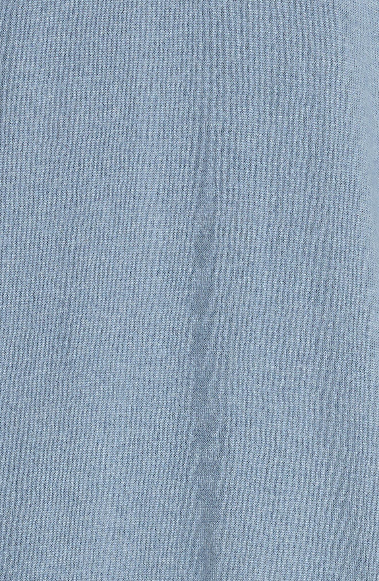 Cashmere & Silk Duster,                             Alternate thumbnail 6, color,                             Slate Blue