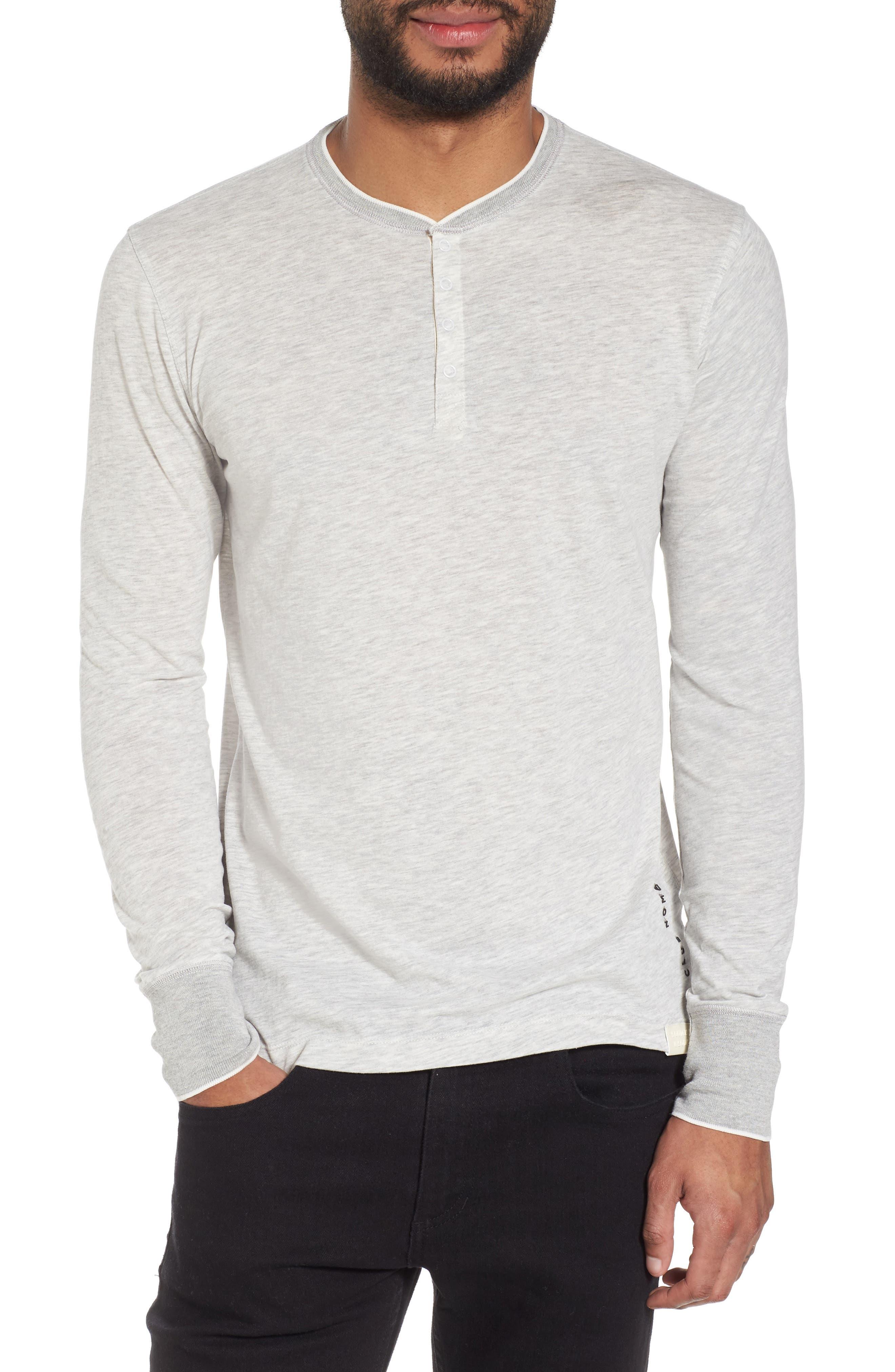 Club Nomade Soft Granddad T-Shirt,                         Main,                         color, Grey Melange