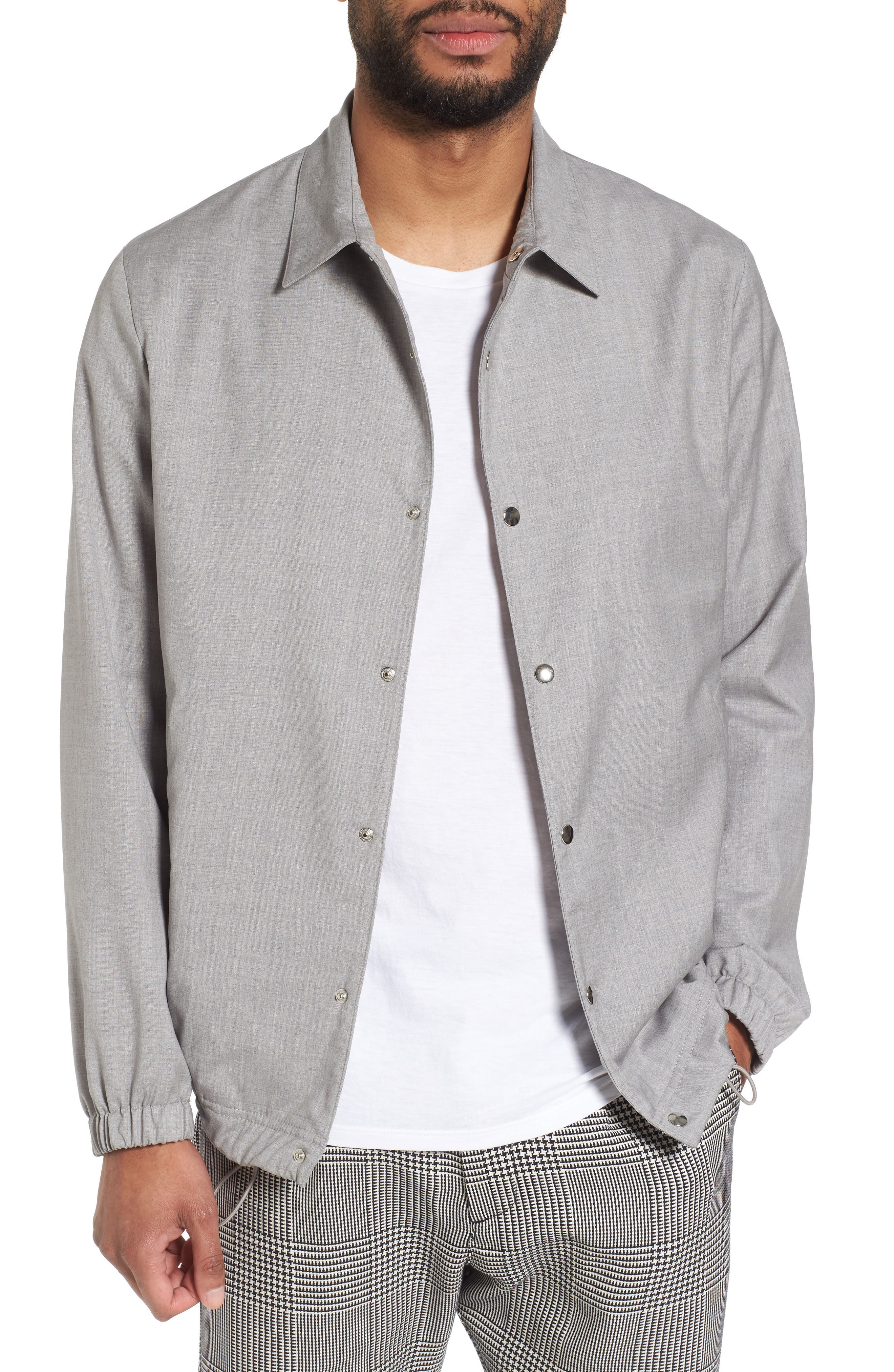 Storm System Wool Coach Jacket,                         Main,                         color, Light Grey