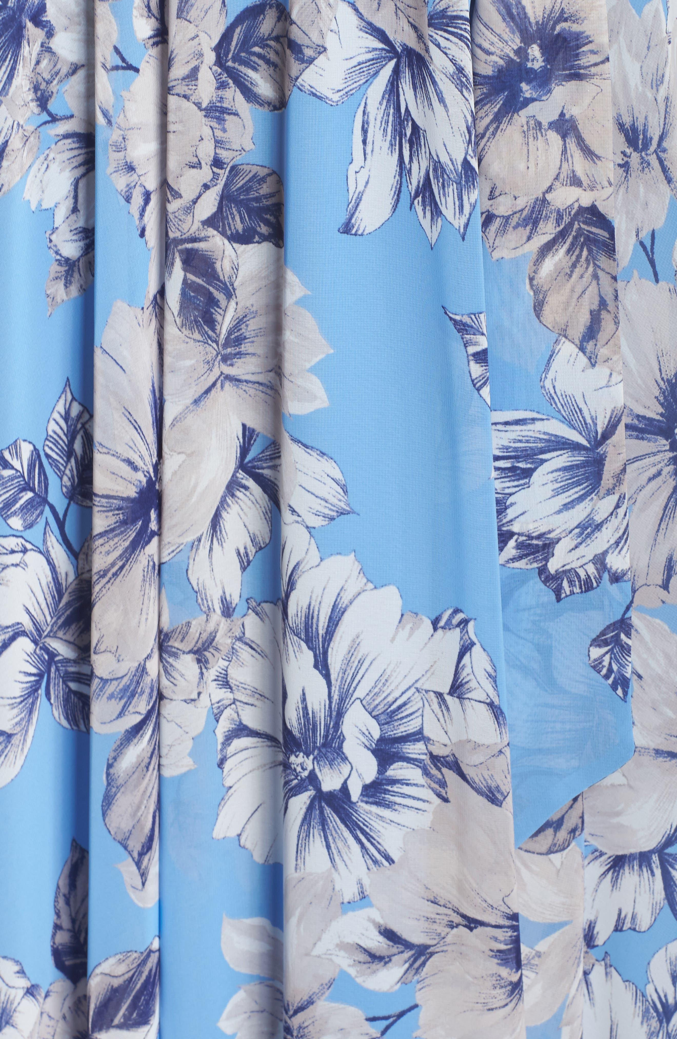 Halter Maxi Dress,                             Alternate thumbnail 5, color,                             Blue