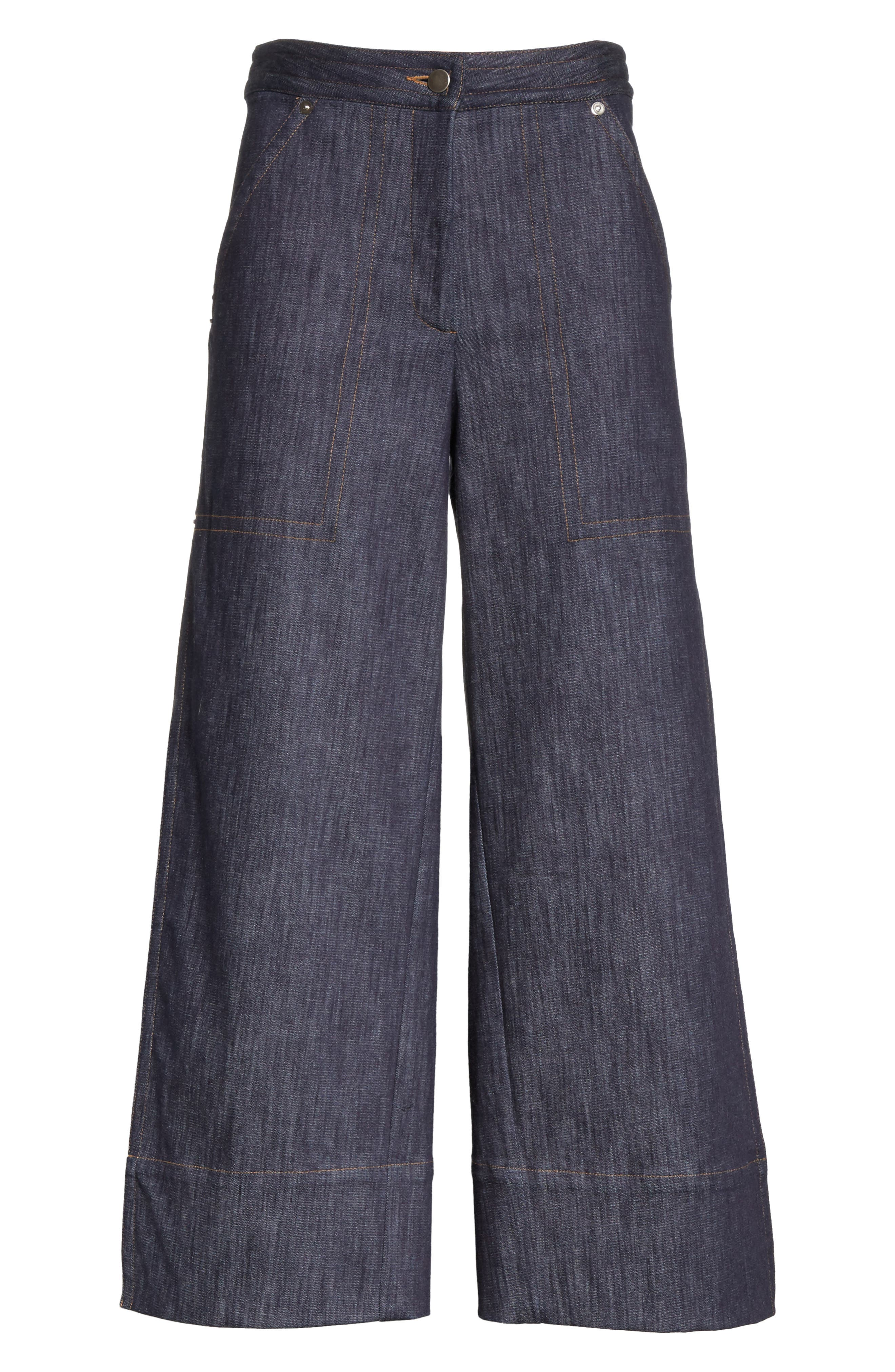 Alternate Image 7  - Yigal Azrouël Panel Front Wide Leg Crop Jeans