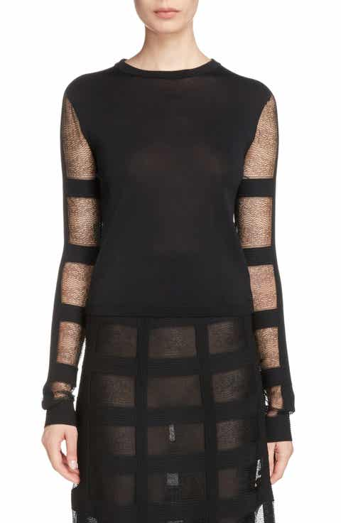 Alexander McQueen Sheer Stripe Sweater