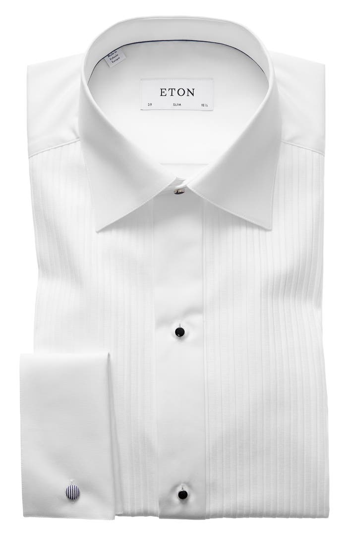 Eton Slim Fit Pleated Bib Tuxedo Shirt Nordstrom