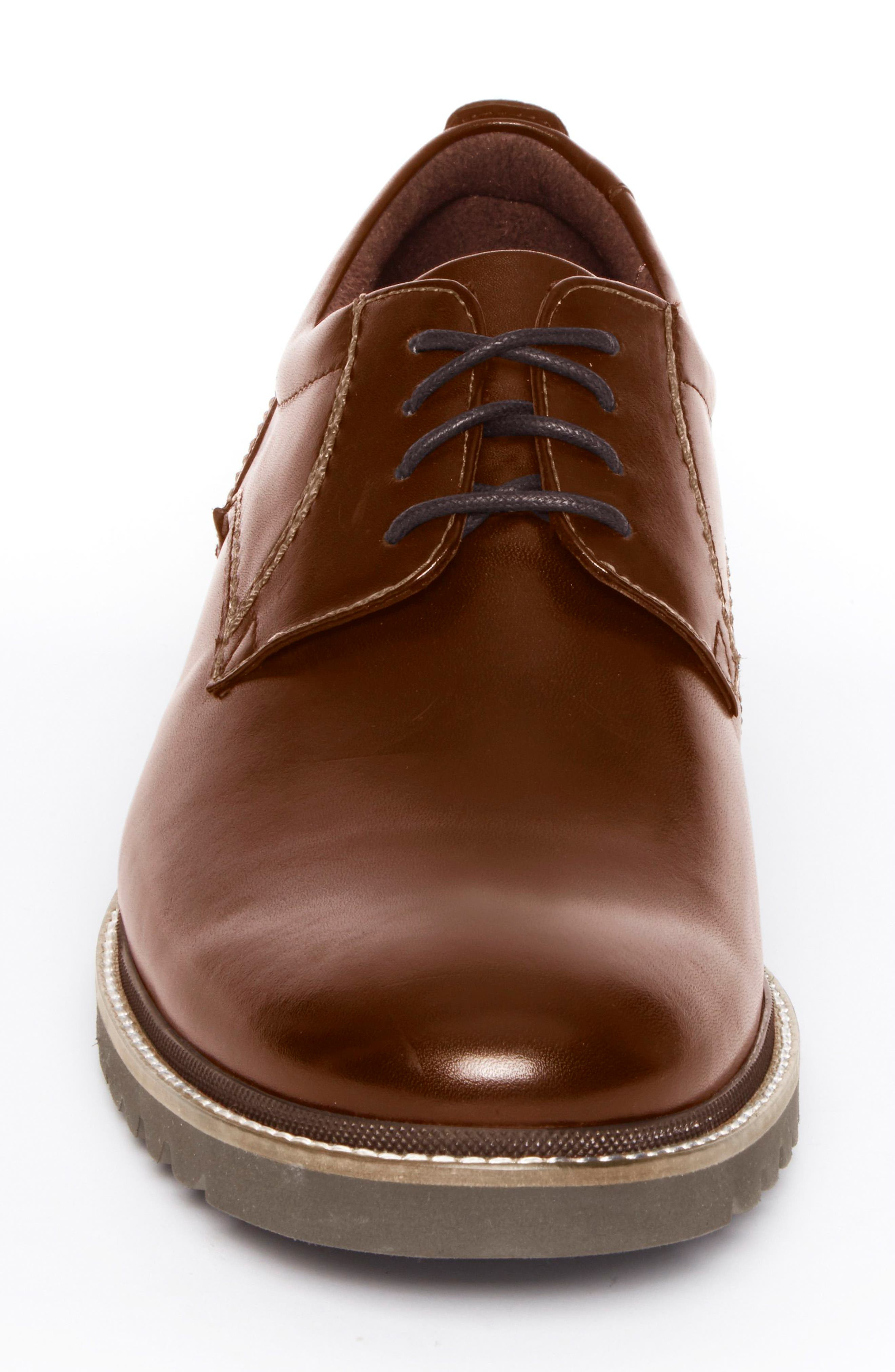 Marshall Buck Shoe,                             Alternate thumbnail 4, color,                             Dark Brown Leather