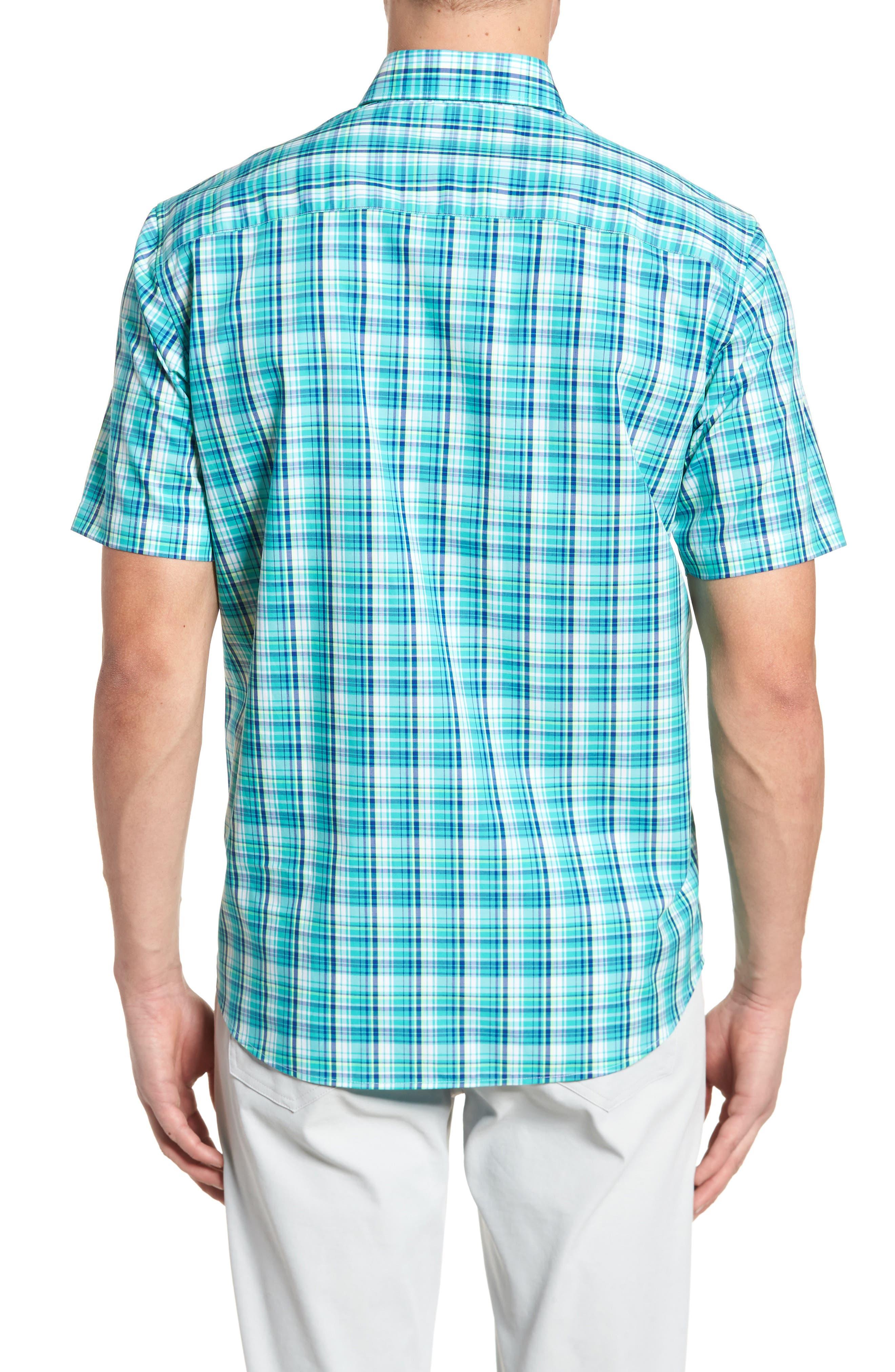 Tobias Non-Iron Plaid Woven Shirt,                             Alternate thumbnail 2, color,                             Newport
