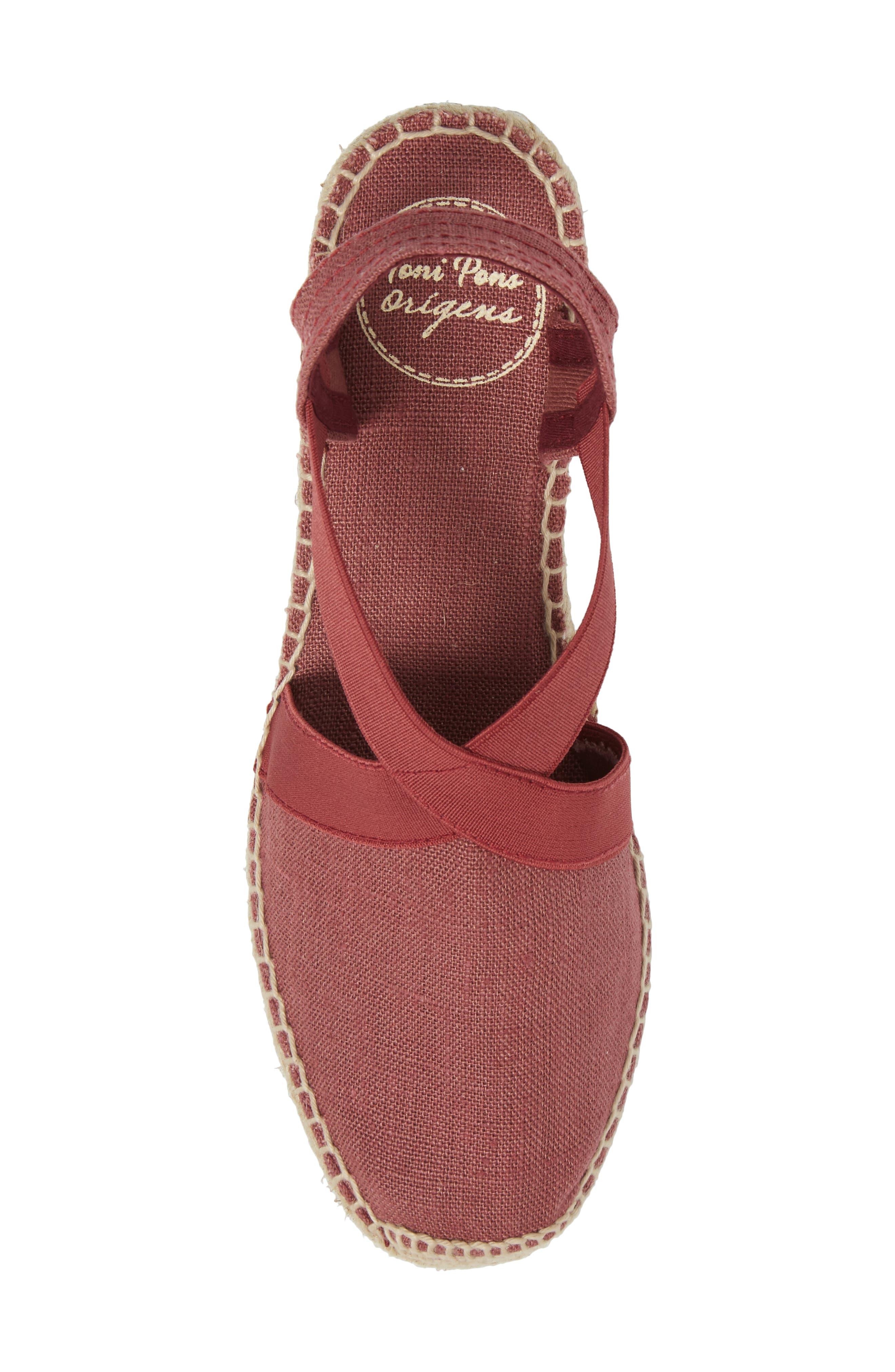 'Ter' Slingback Espadrille Sandal,                             Alternate thumbnail 5, color,                             Bru Fabric