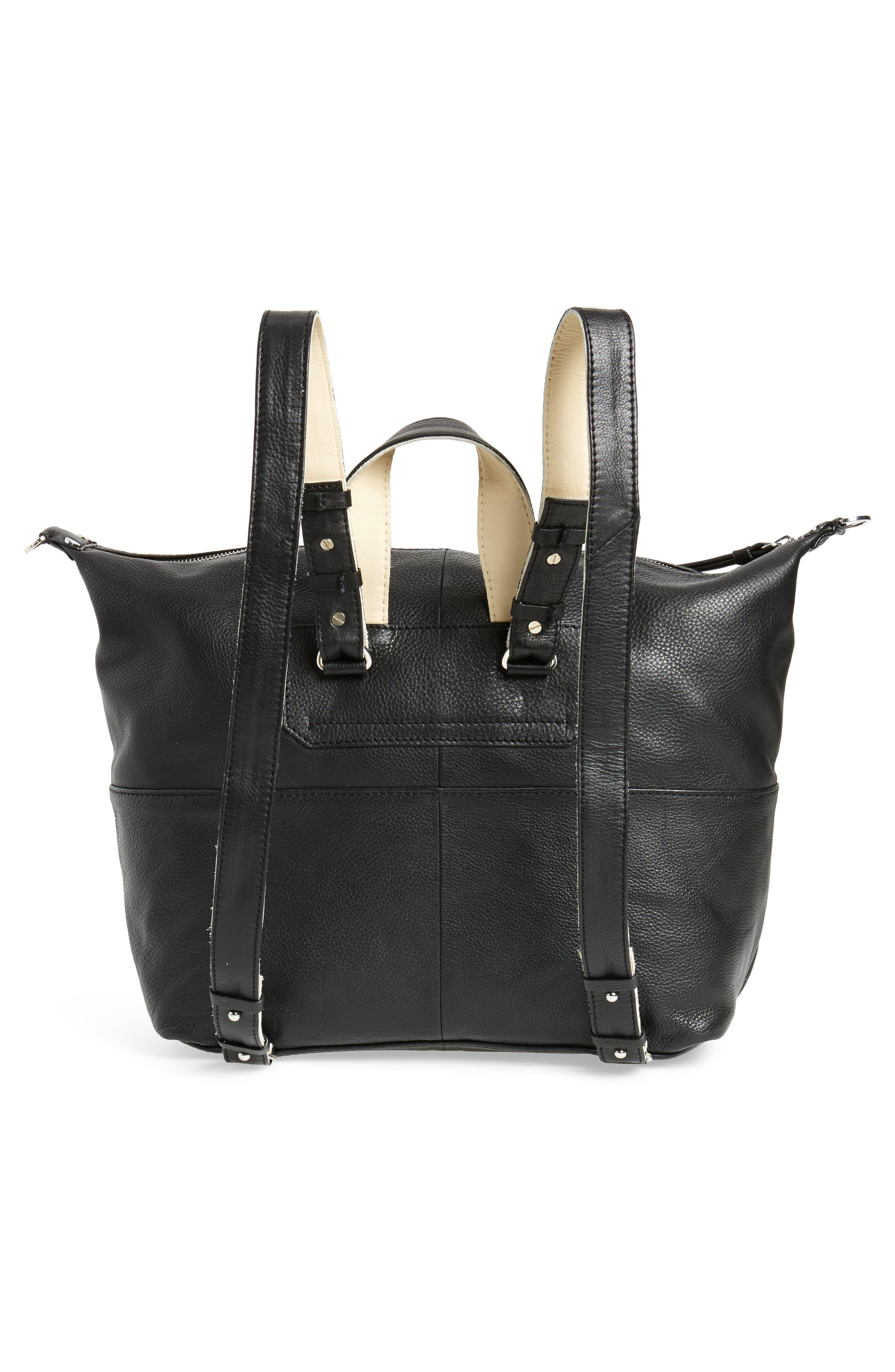Alternate Image 3  - Topshop Premium Leather Convertible Backpack