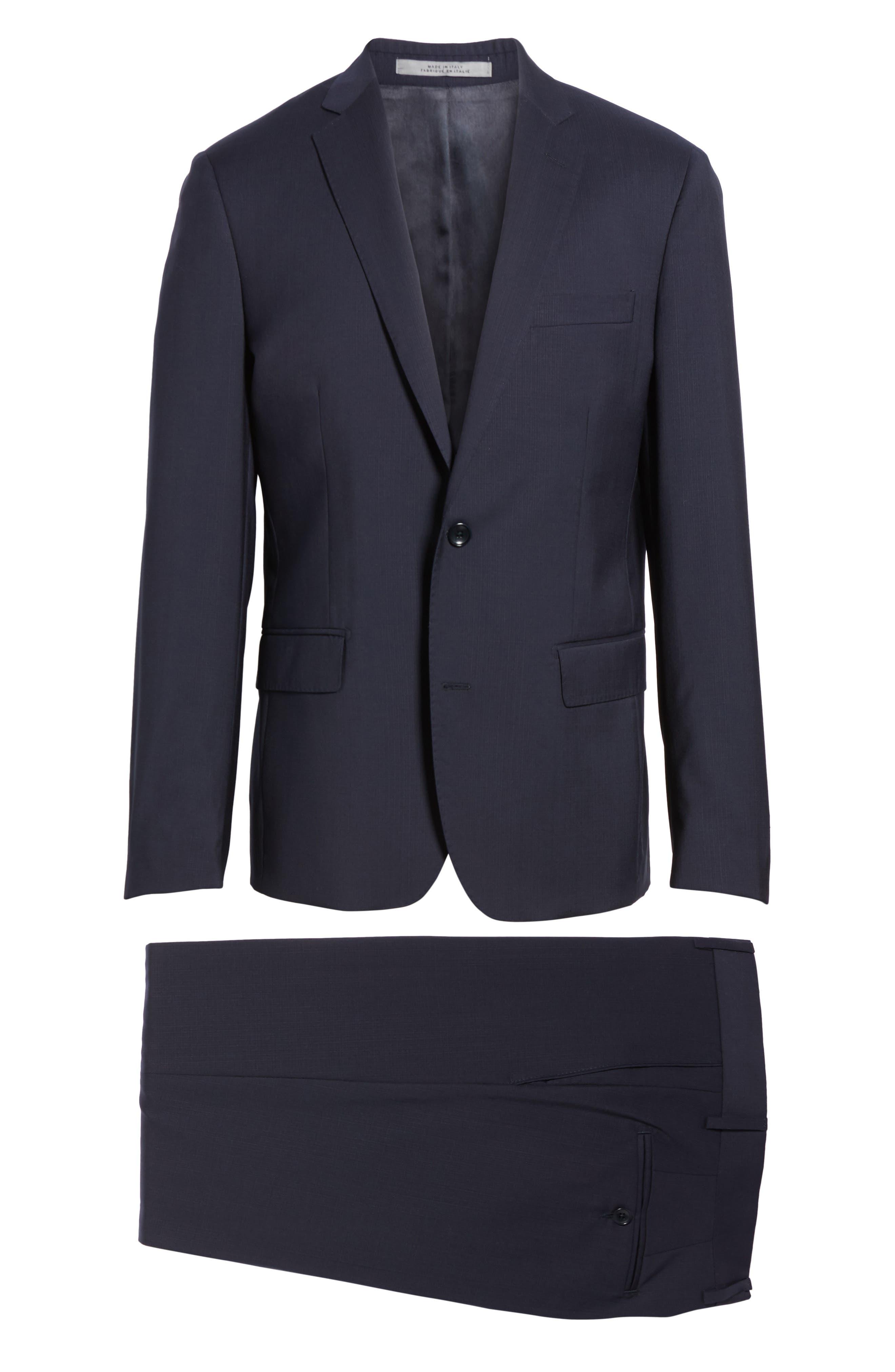 Classic Fit Check Suit,                             Alternate thumbnail 8, color,                             Navy
