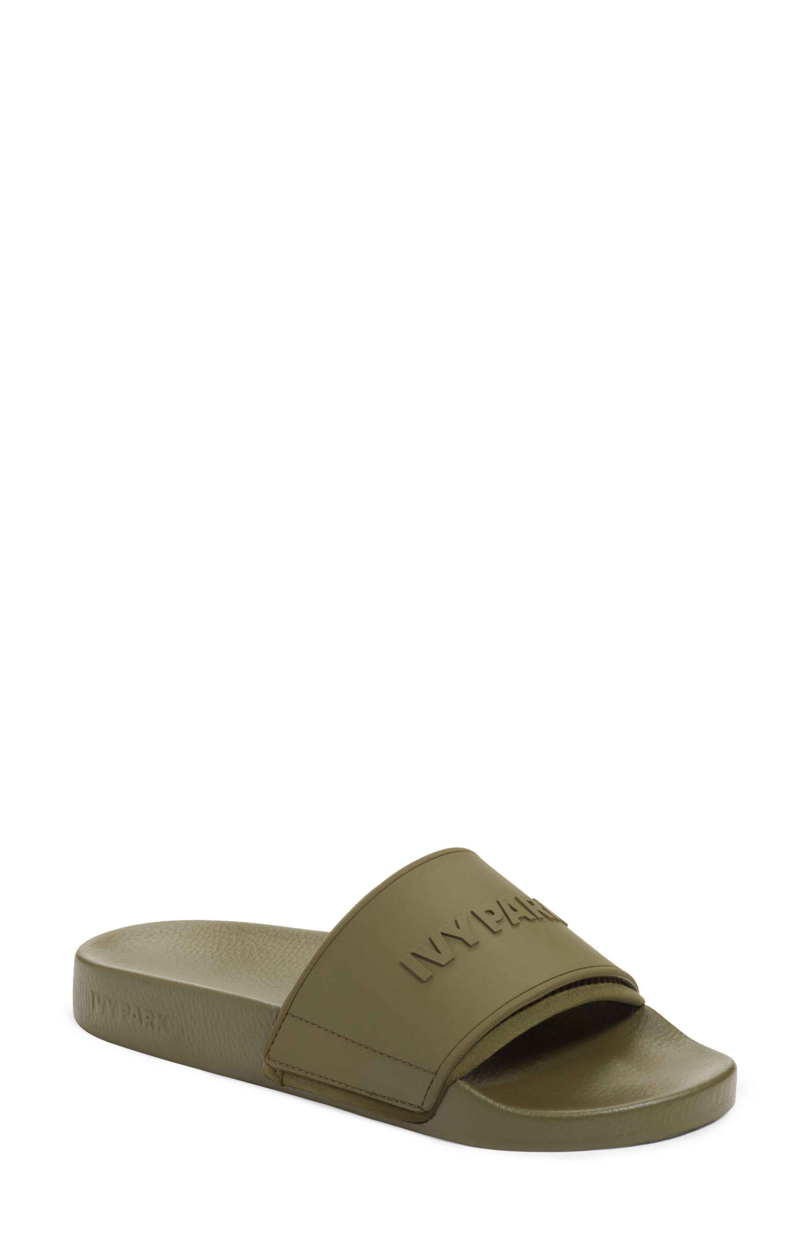 Main Image - IVY PARK® Embossed Logo Sock Slide Sandal (Women)