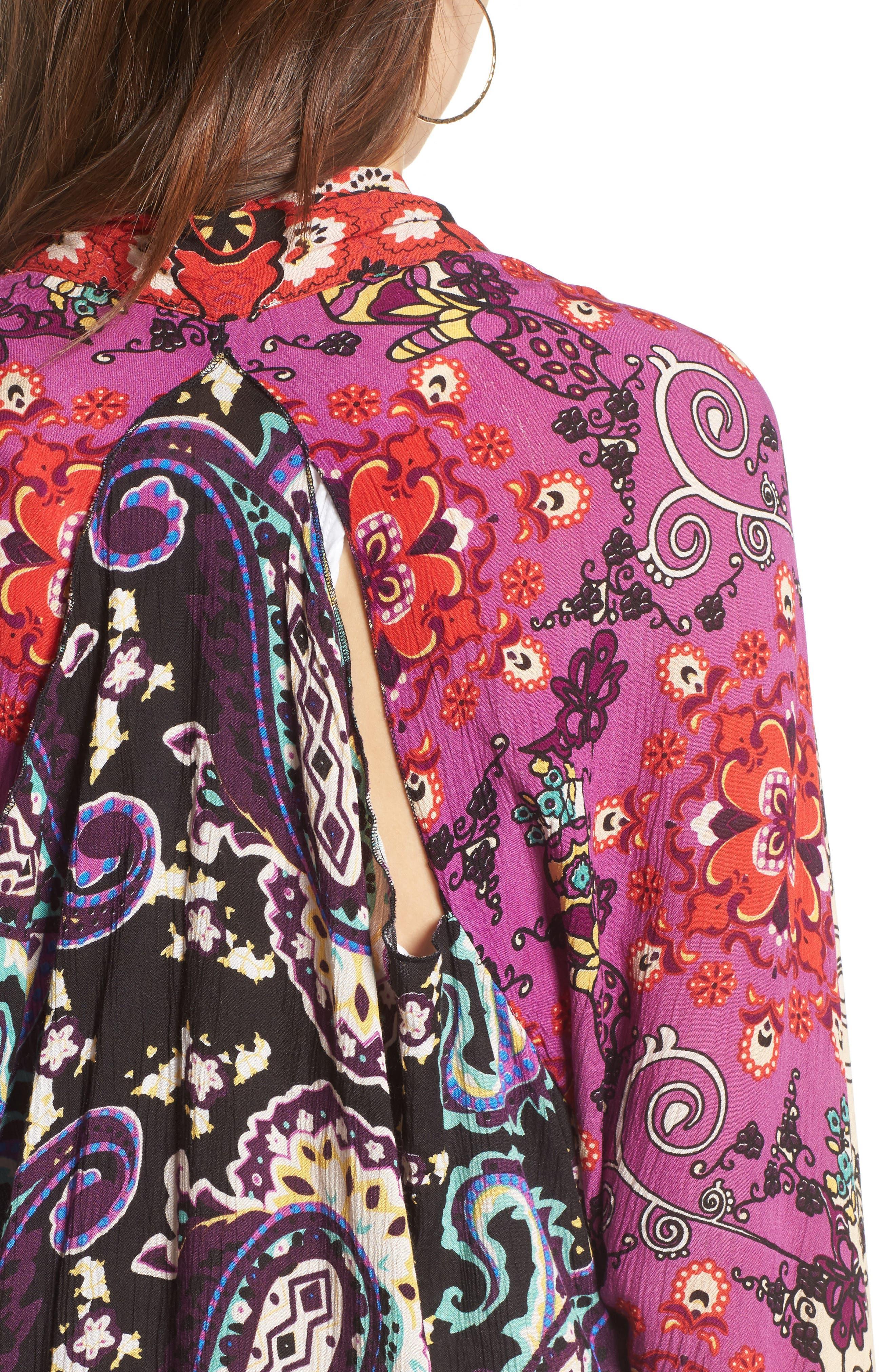 Little Wing Kimono,                             Alternate thumbnail 4, color,                             Plum Combo