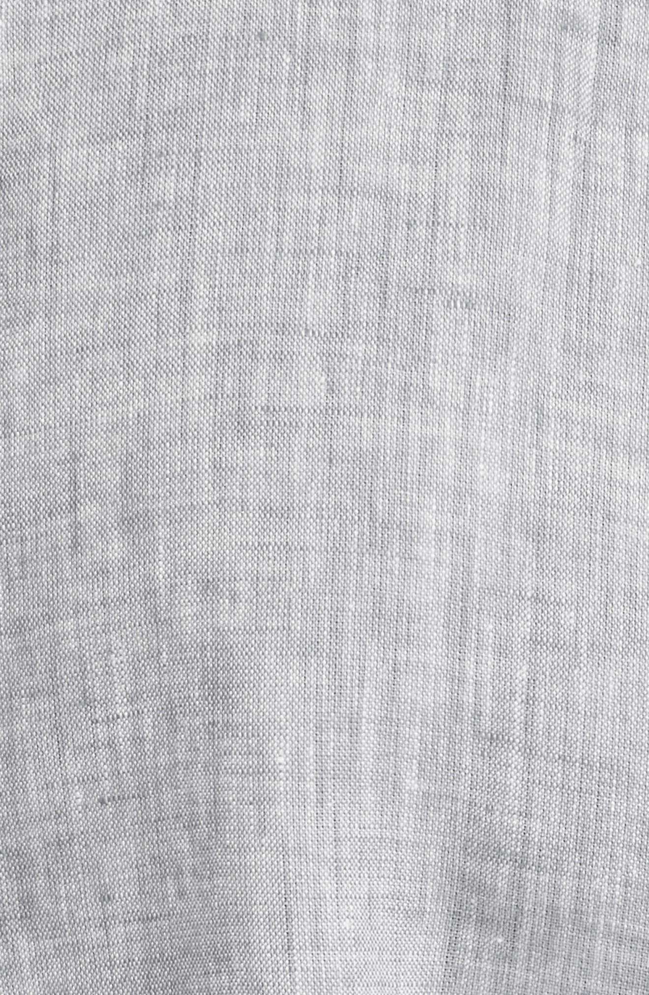 Linen Shirt,                             Alternate thumbnail 5, color,                             Light Grey