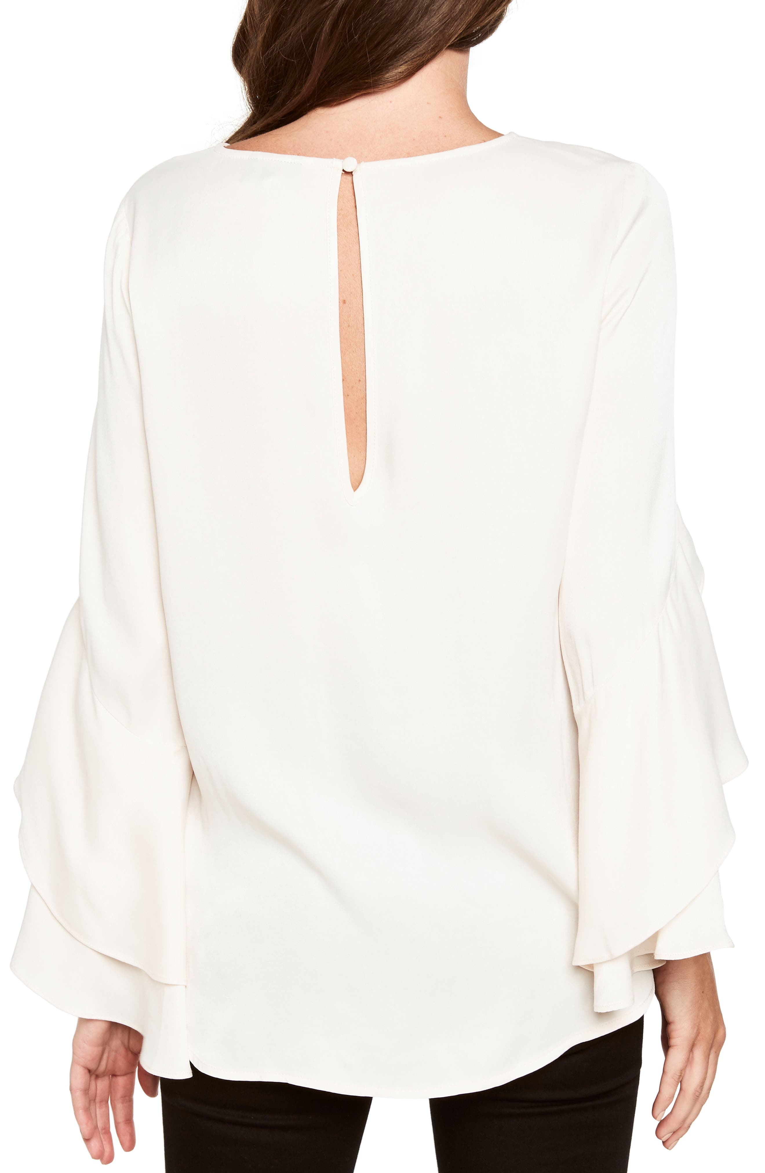 Bell Sleeve Top,                             Alternate thumbnail 3, color,                             Champagne