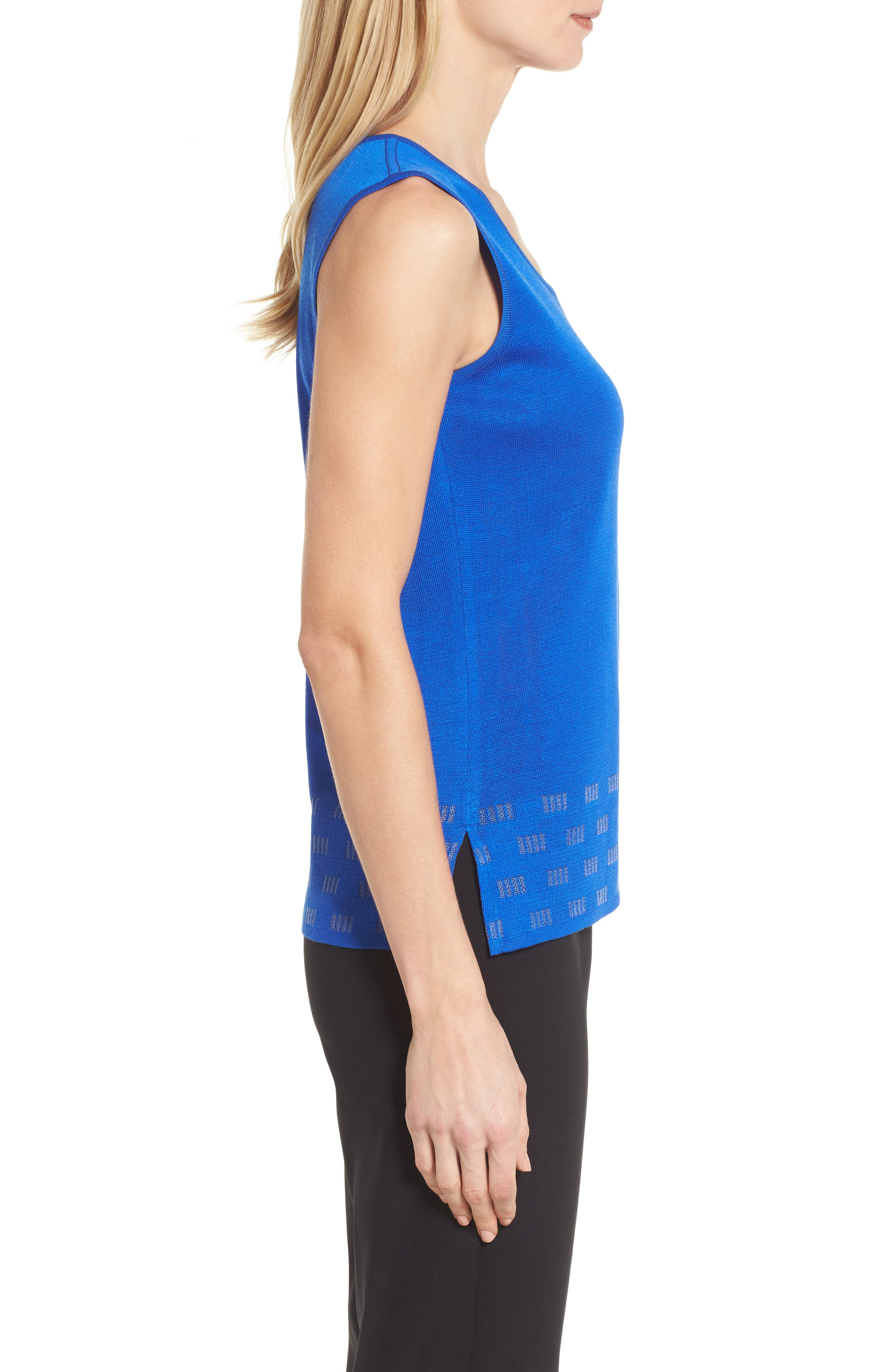 Scoop Neck Trimmed Tank,                             Alternate thumbnail 3, color,                             Patriot Blue