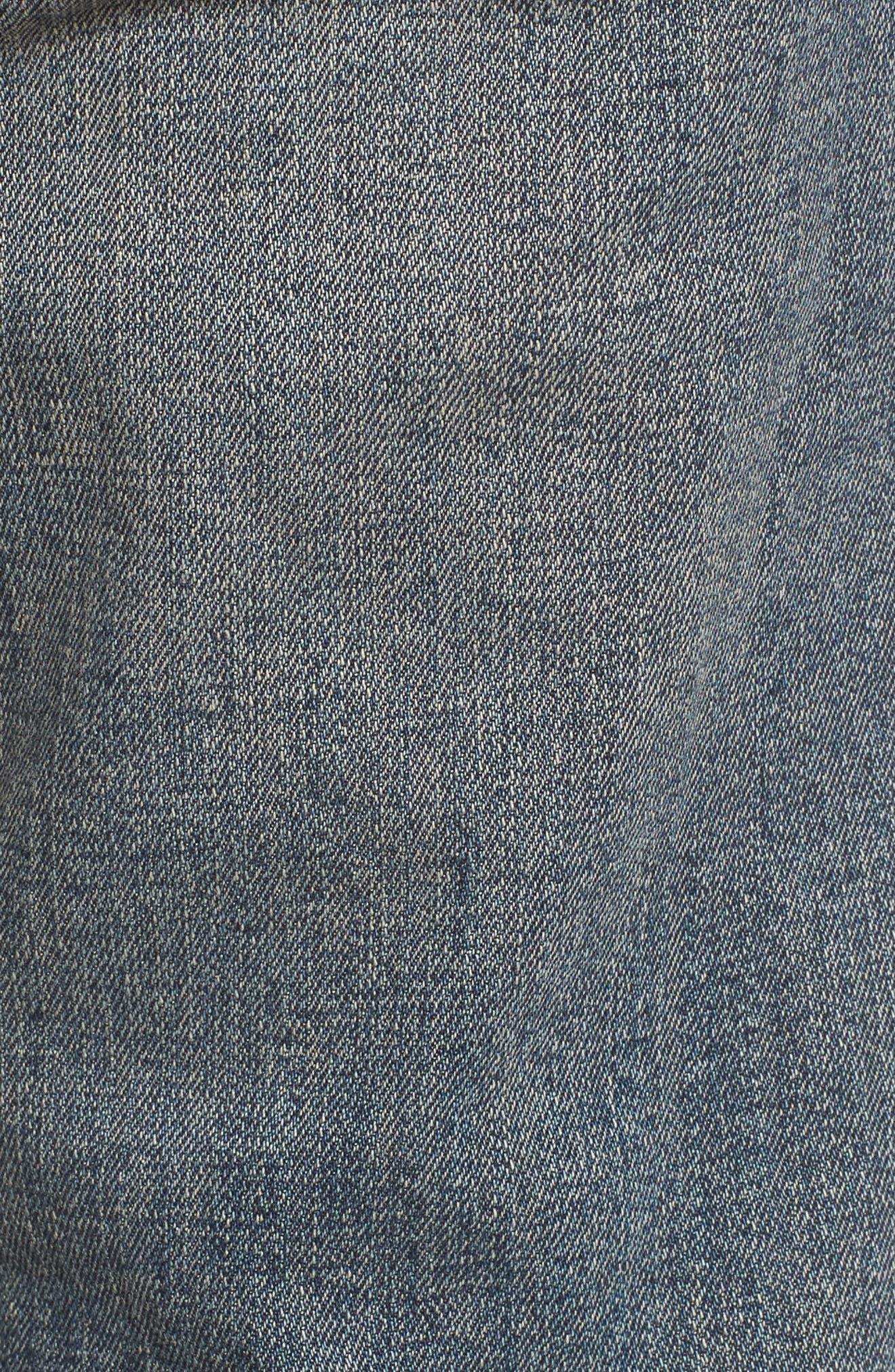 Repairer Slim Fit Denim Pants,                             Alternate thumbnail 5, color,                             Rockstar Blue
