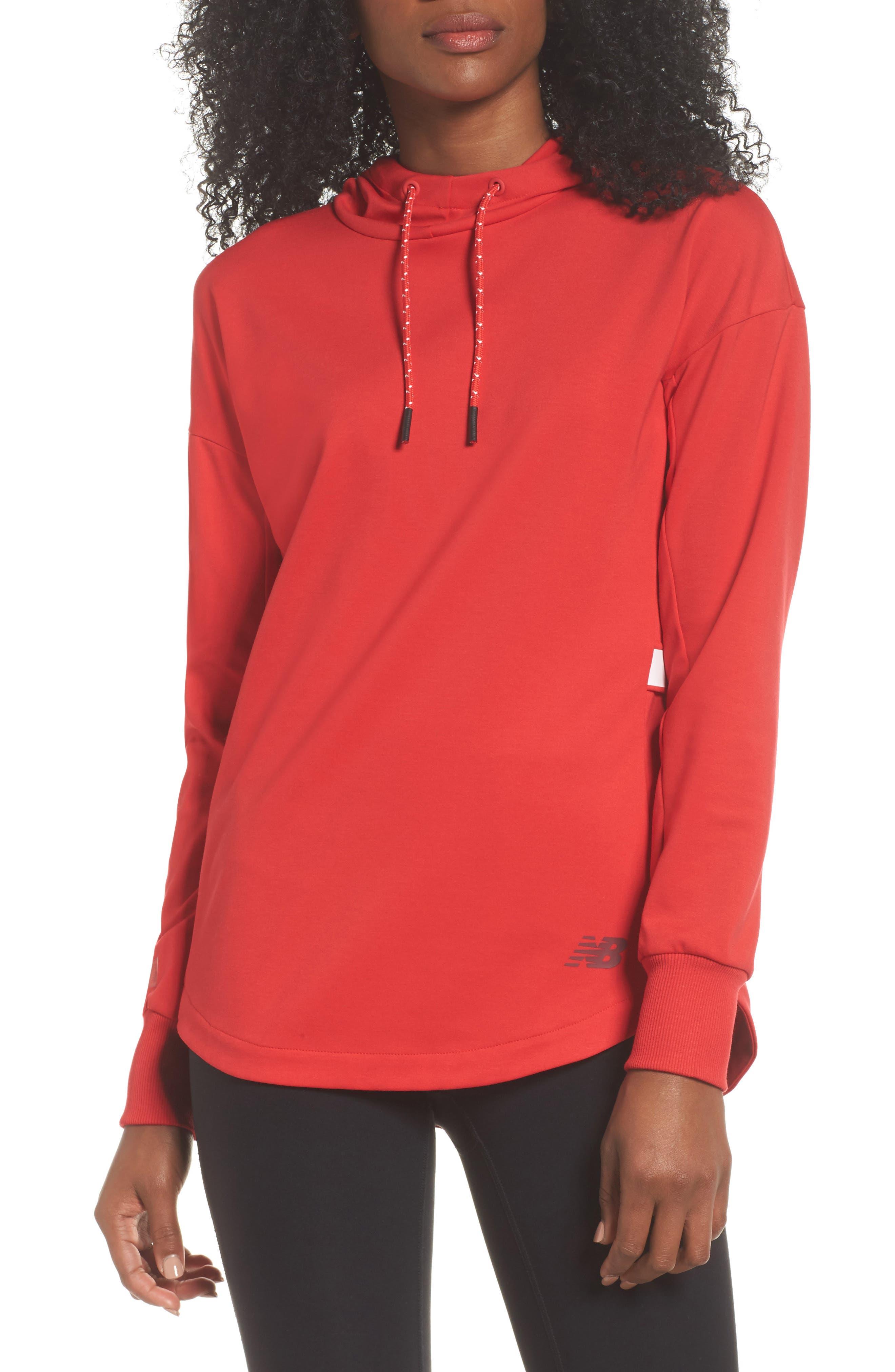 Athletics Pullover,                         Main,                         color, Cerise