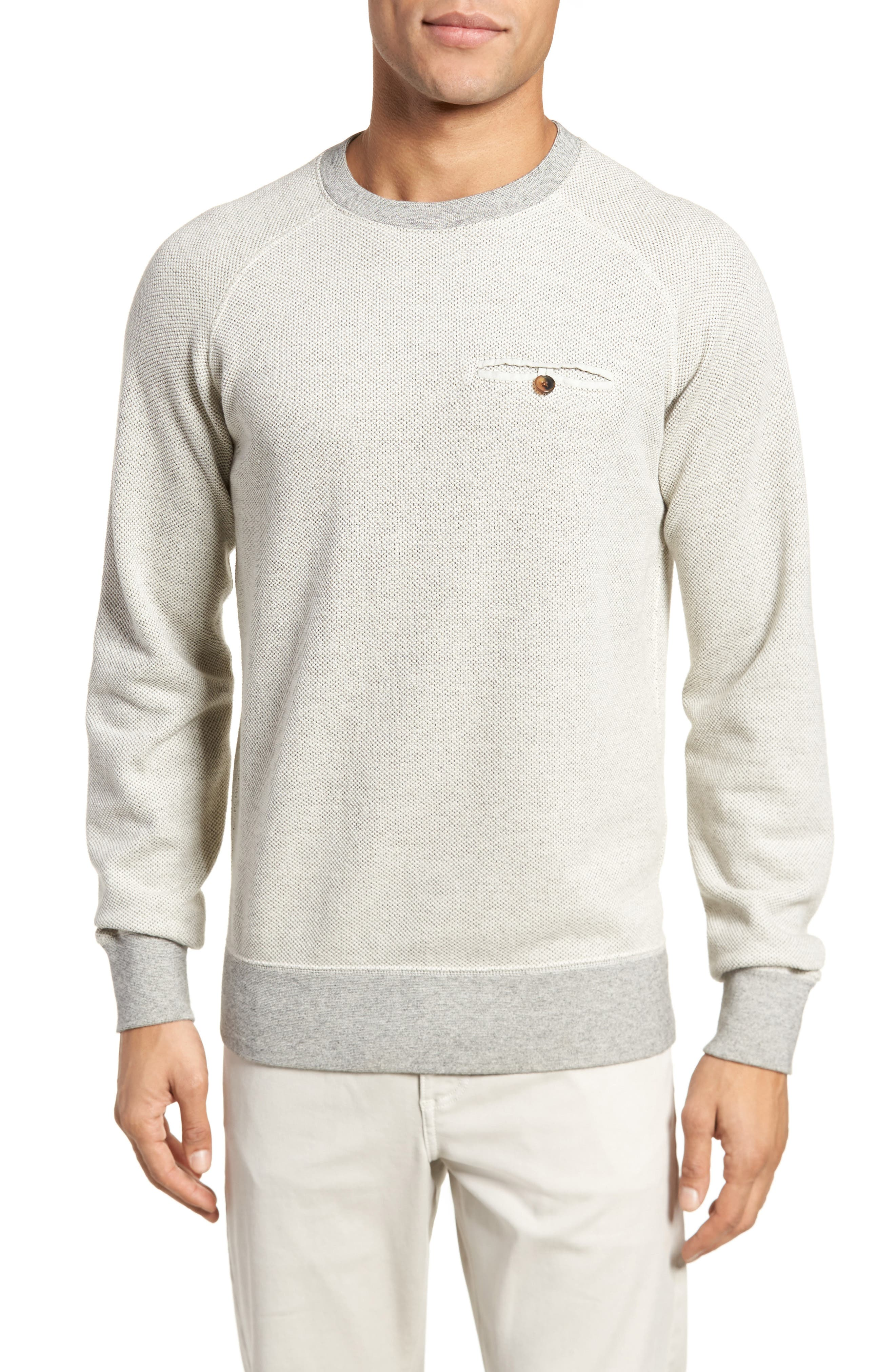 Tommy Pullover Sweatshirt,                             Main thumbnail 1, color,                             Light Grey