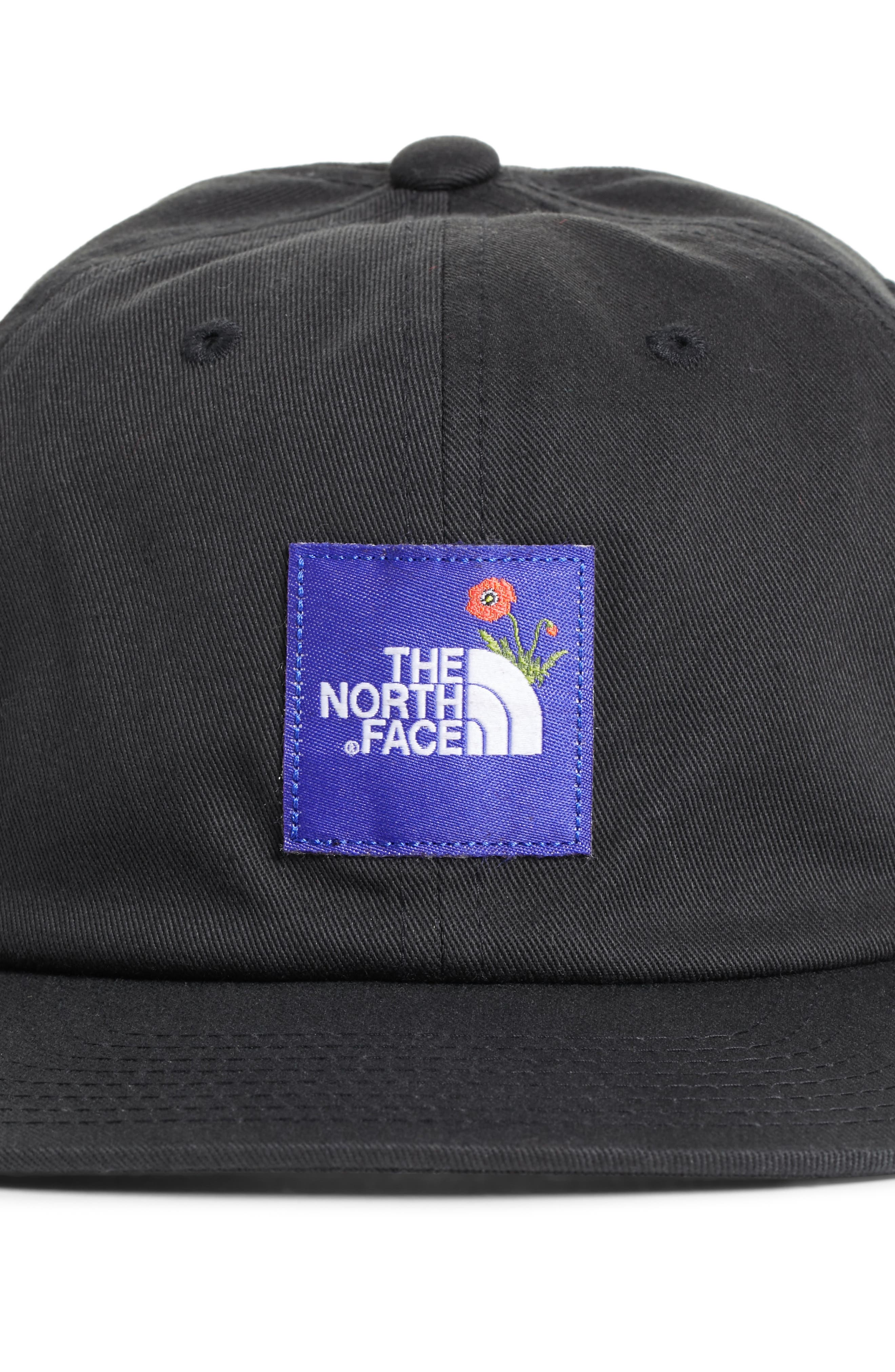 Poppy Adjustable Cap,                             Alternate thumbnail 3, color,                             Tnf Black