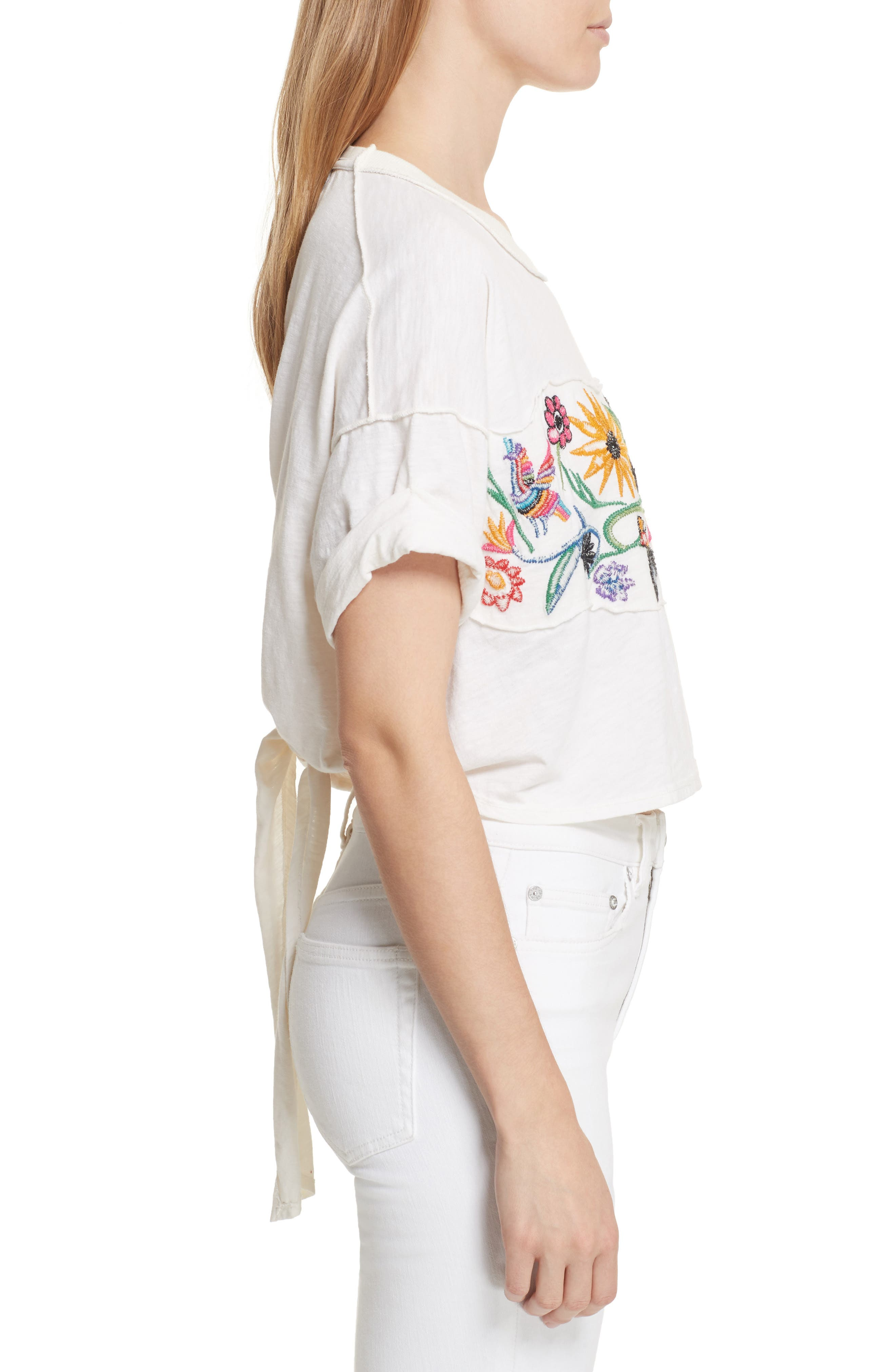 Alternate Image 3  - Free People Garden Time Embroidered Tee