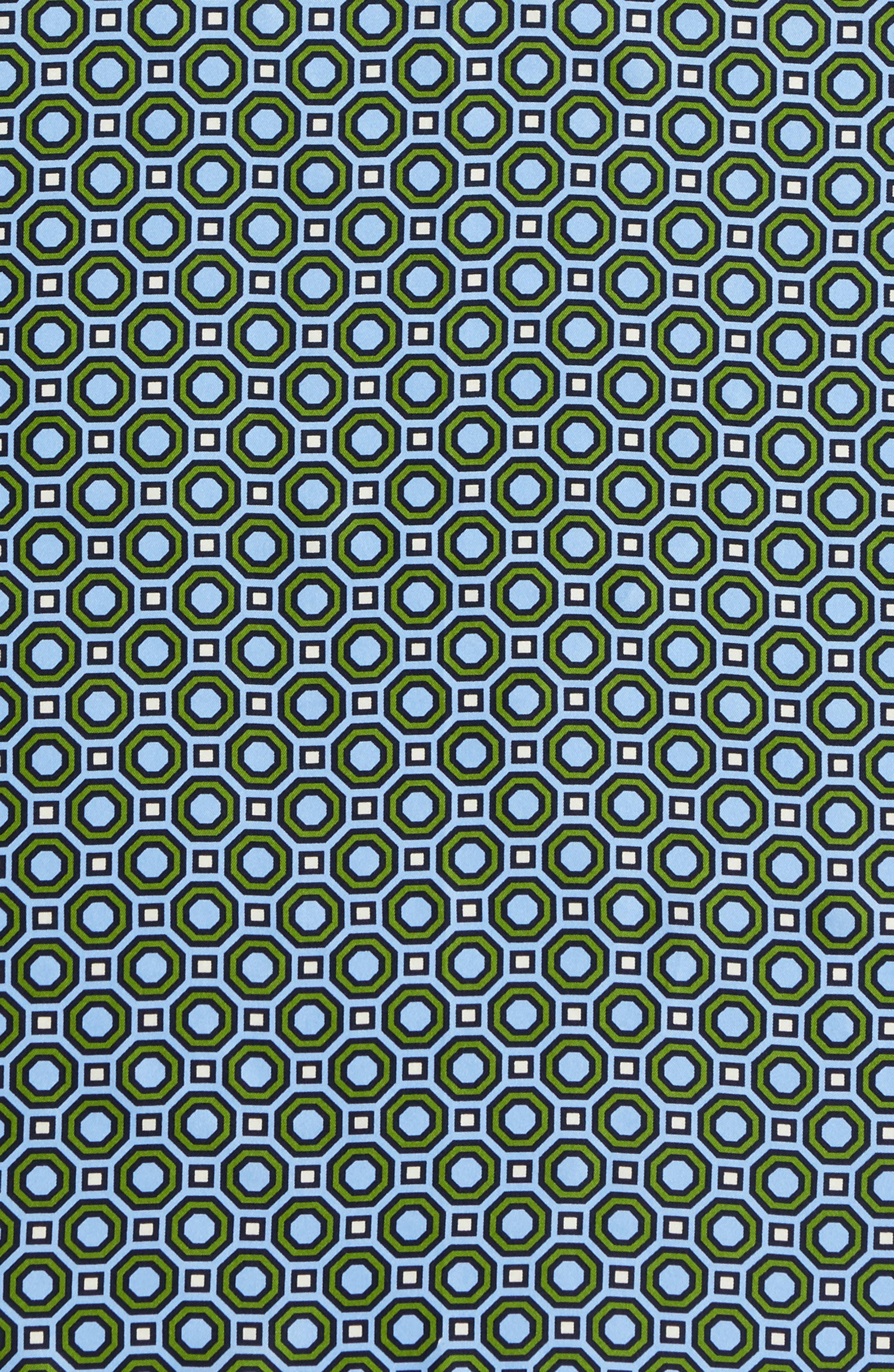 Octagon Print Silk Neckerchief,                             Alternate thumbnail 4, color,                             Blue
