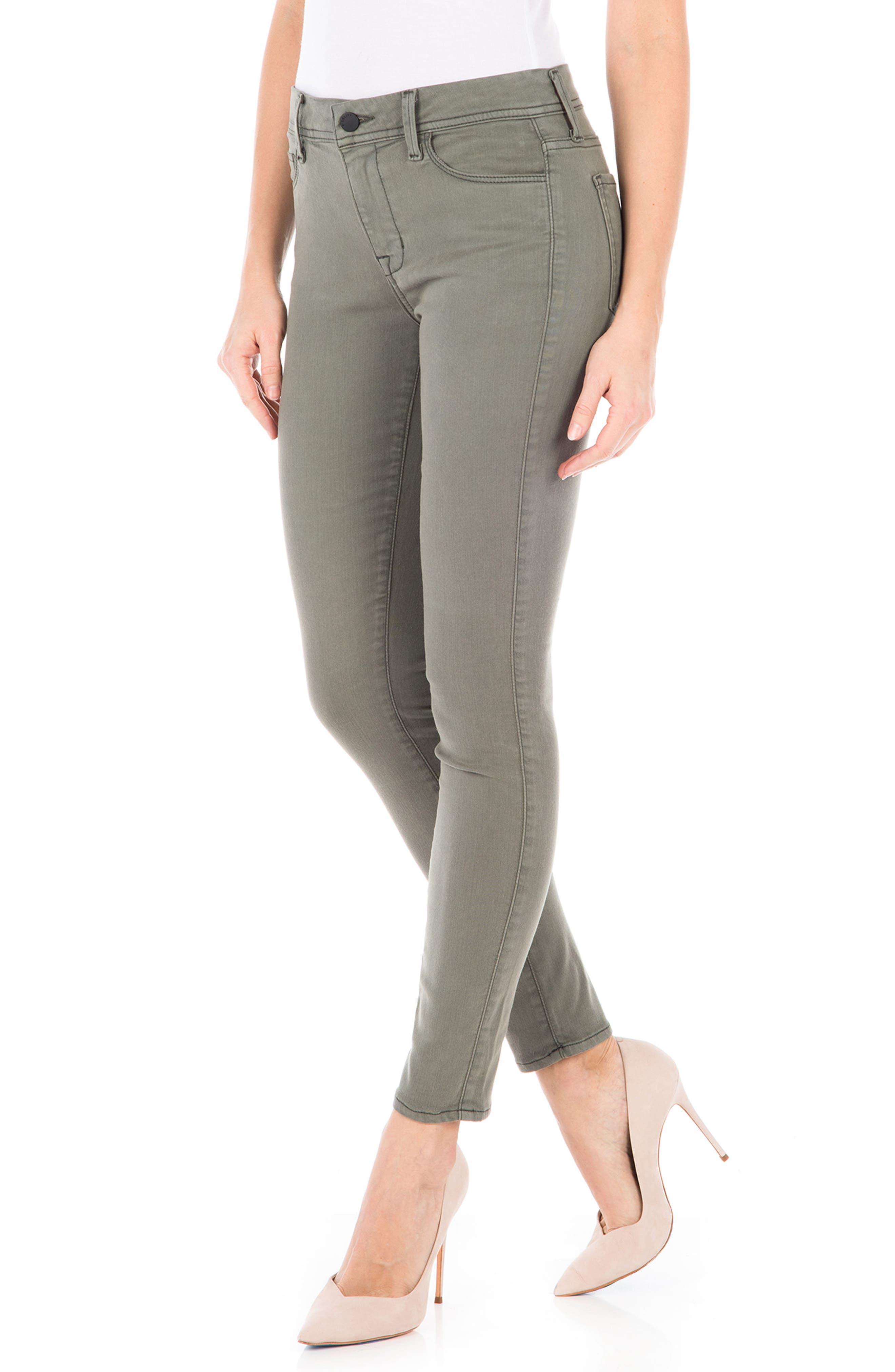 Sola Skinny Jeans,                             Alternate thumbnail 3, color,                             Pistachio