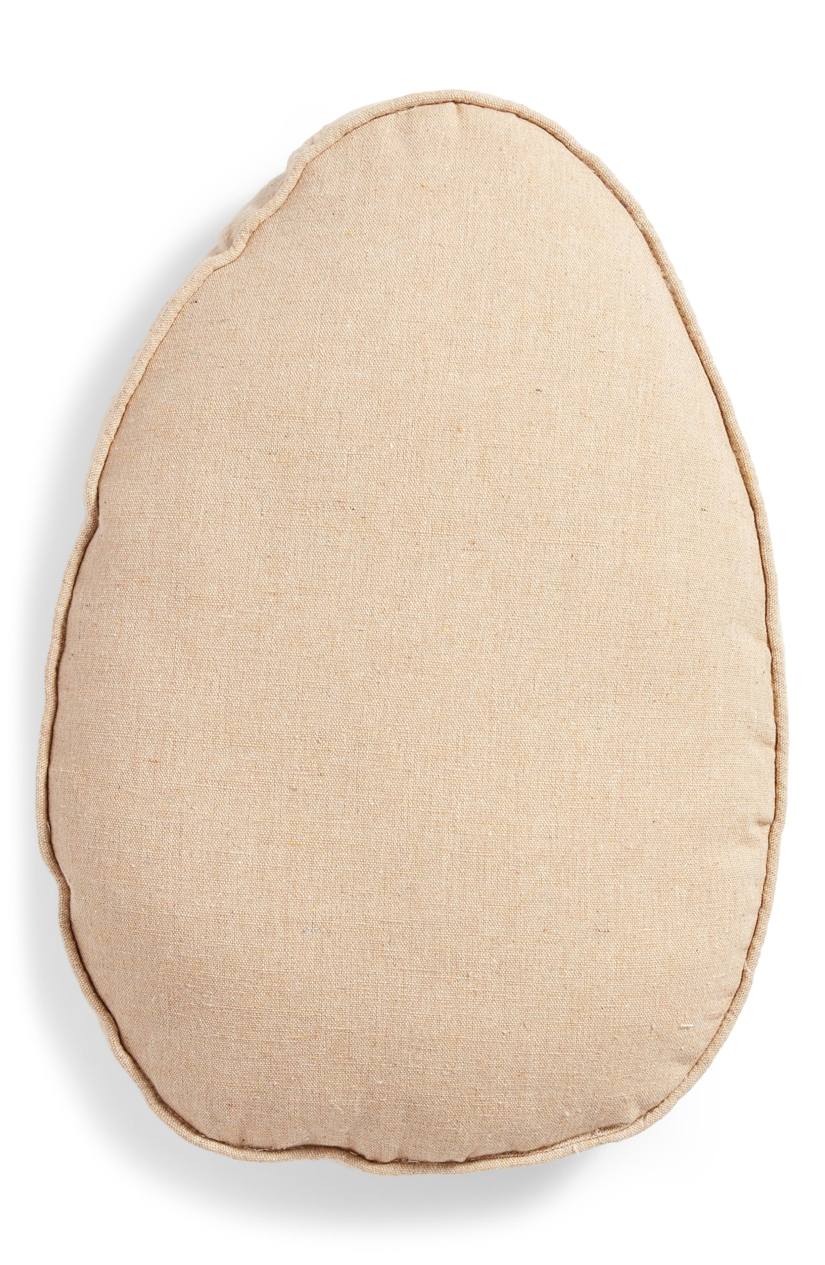 Egg Accent Pillow,                             Alternate thumbnail 2, color,                             White