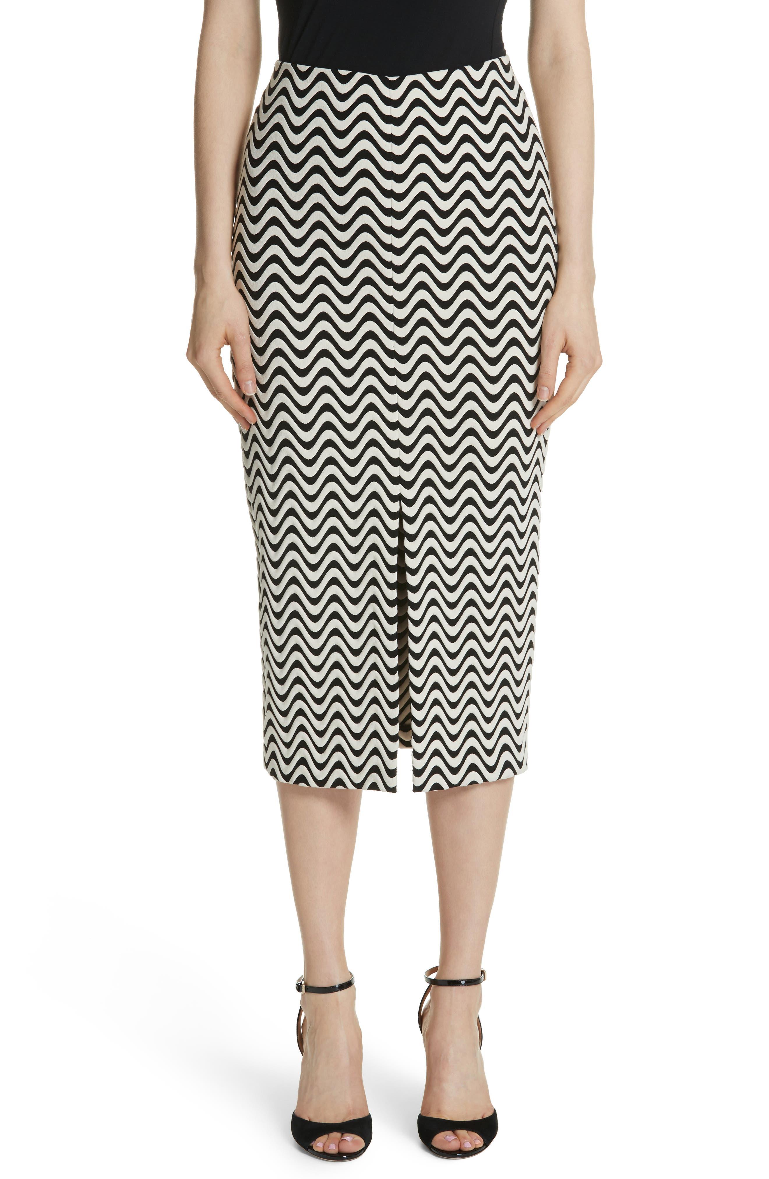 Yigal Azrouël Wave Pattern Body-Con Skirt