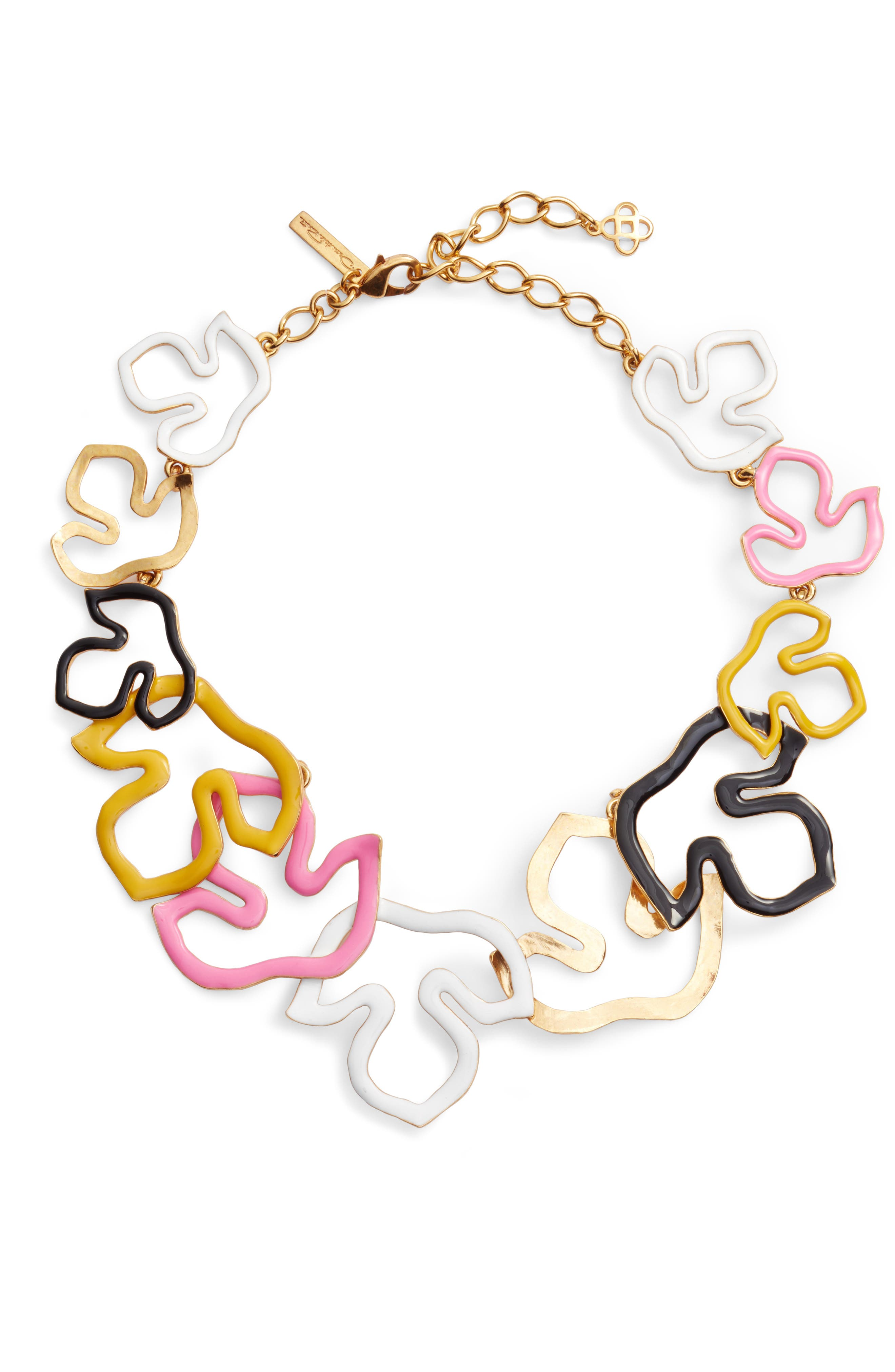 Openwork Collar Necklace,                             Main thumbnail 1, color,                             Multi/ Gold