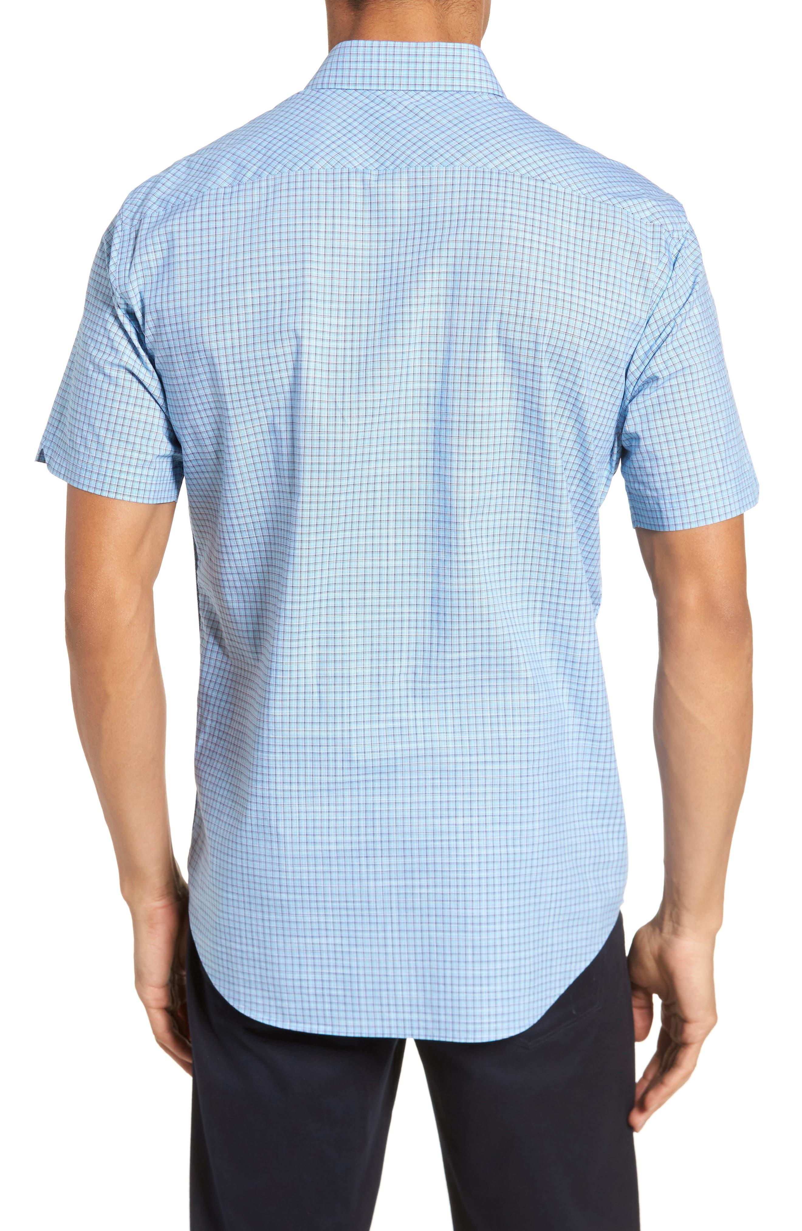 Dunleavy Check Sport Shirt,                             Alternate thumbnail 2, color,                             Blue