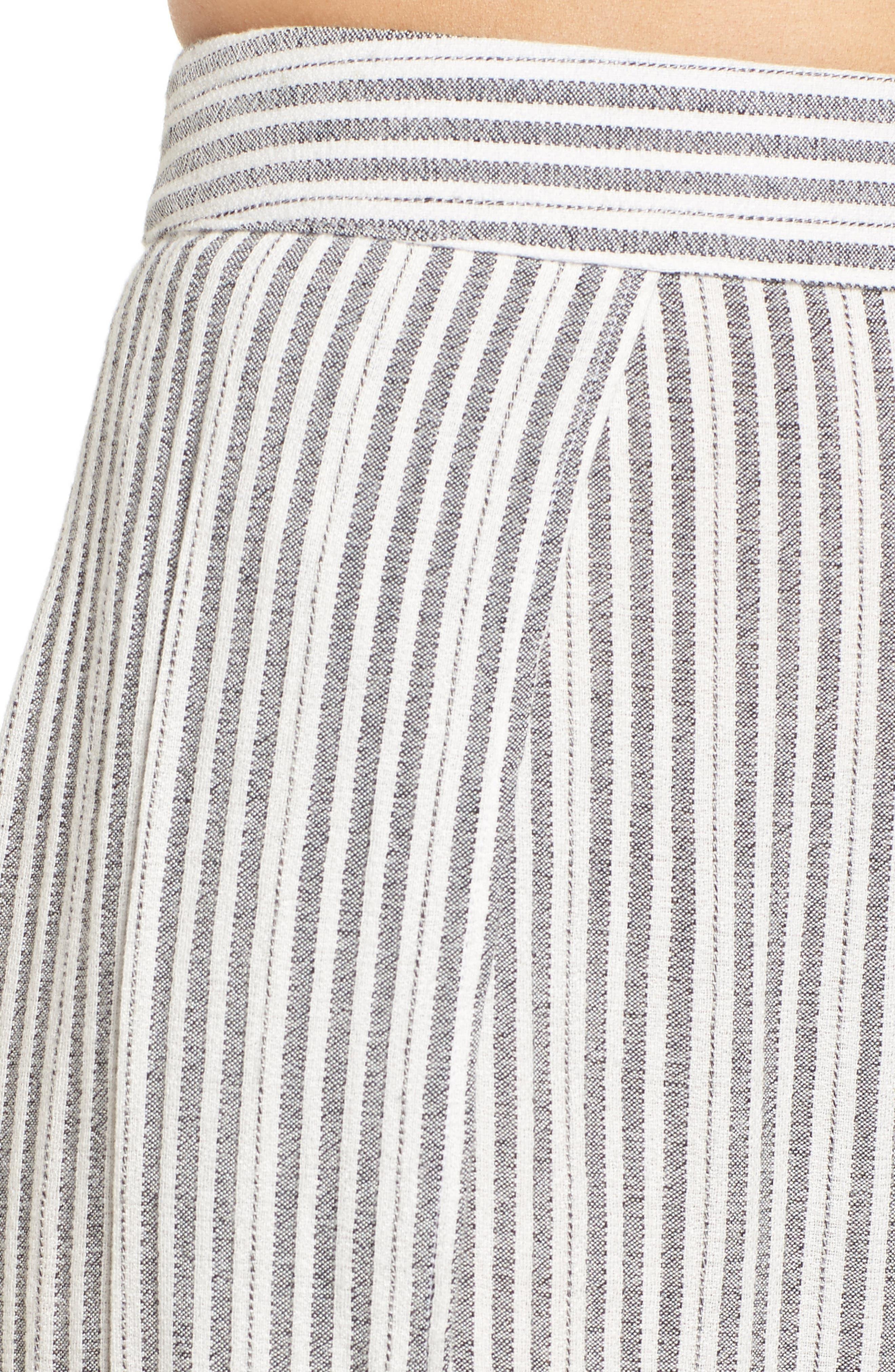Kika Stripe Split Culottes,                             Alternate thumbnail 5, color,                             Grey
