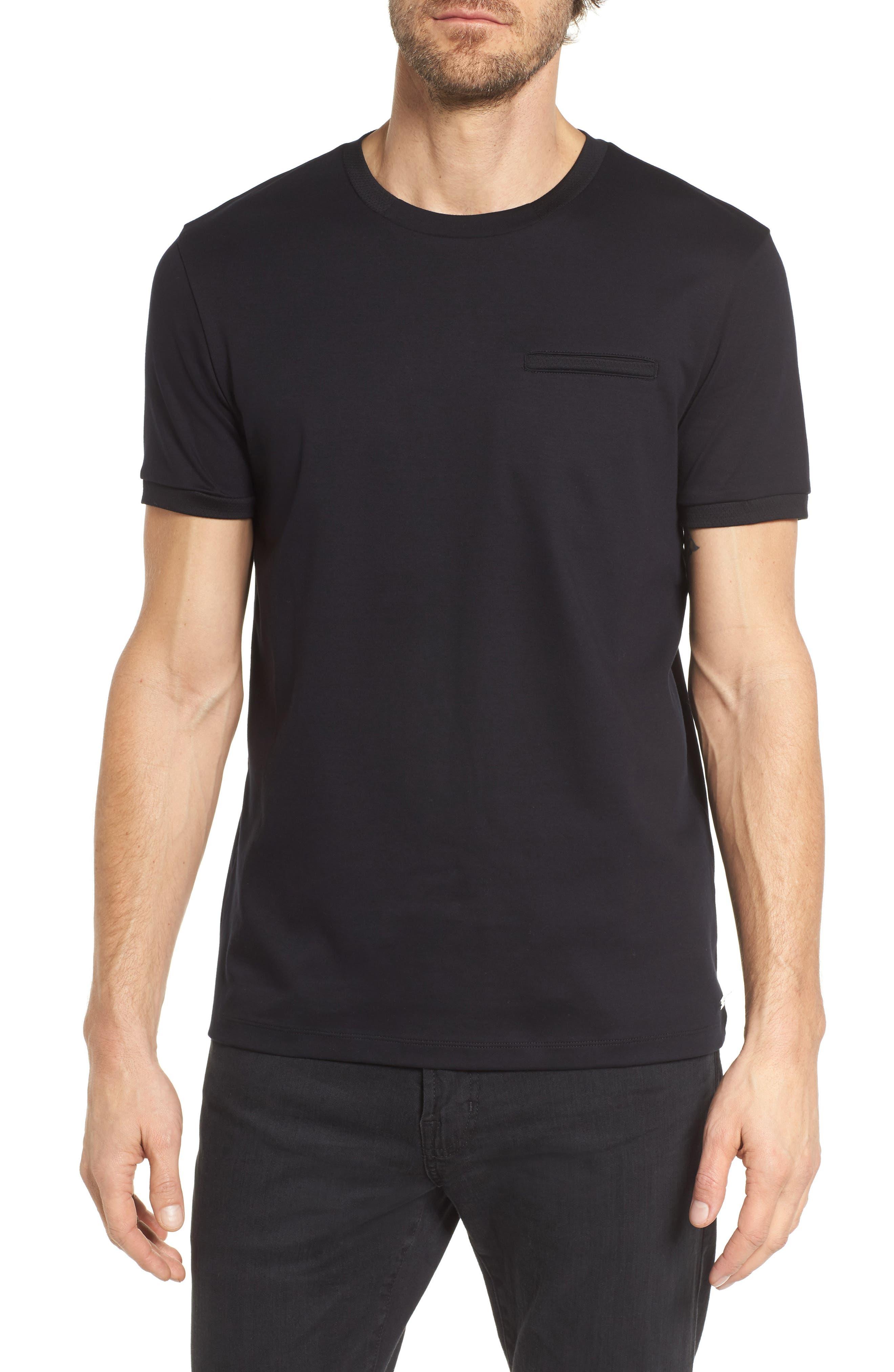 Tessler Mercedes Slim Fit Crewneck T-Shirt,                             Main thumbnail 1, color,                             Black