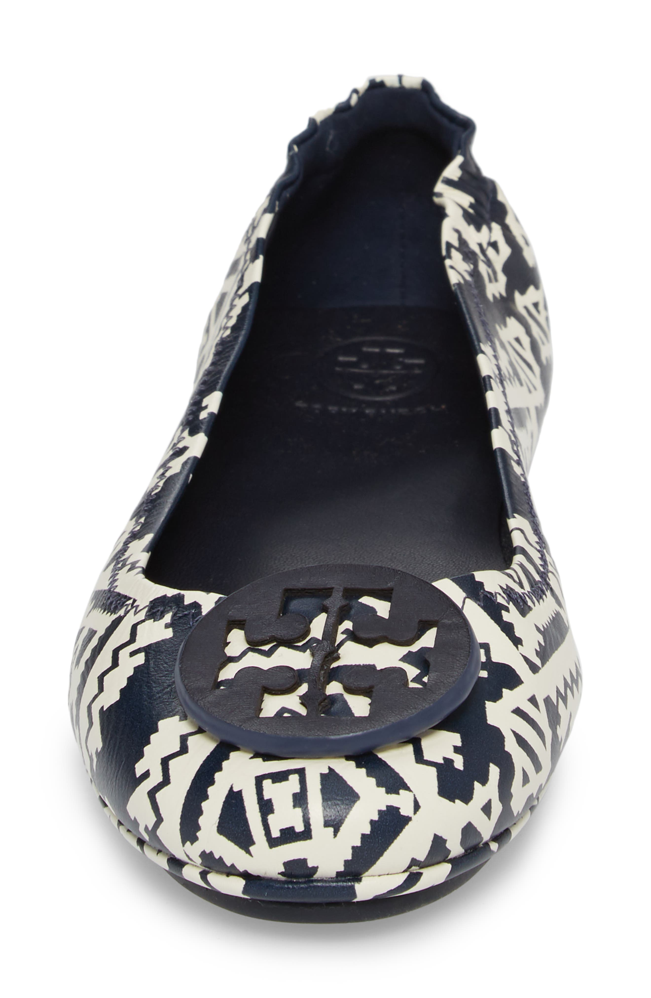 'Minnie' Travel Ballet Flat,                             Alternate thumbnail 4, color,                             Tapestry Geo