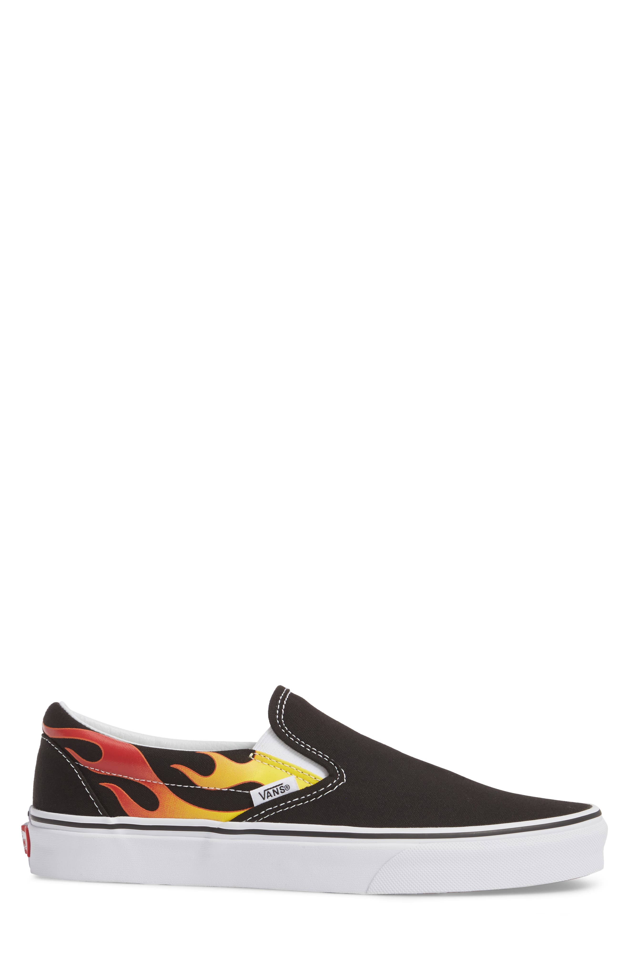 UA Classic Slip-On Sneaker,                             Alternate thumbnail 3, color,                             Black/ Black/ True White