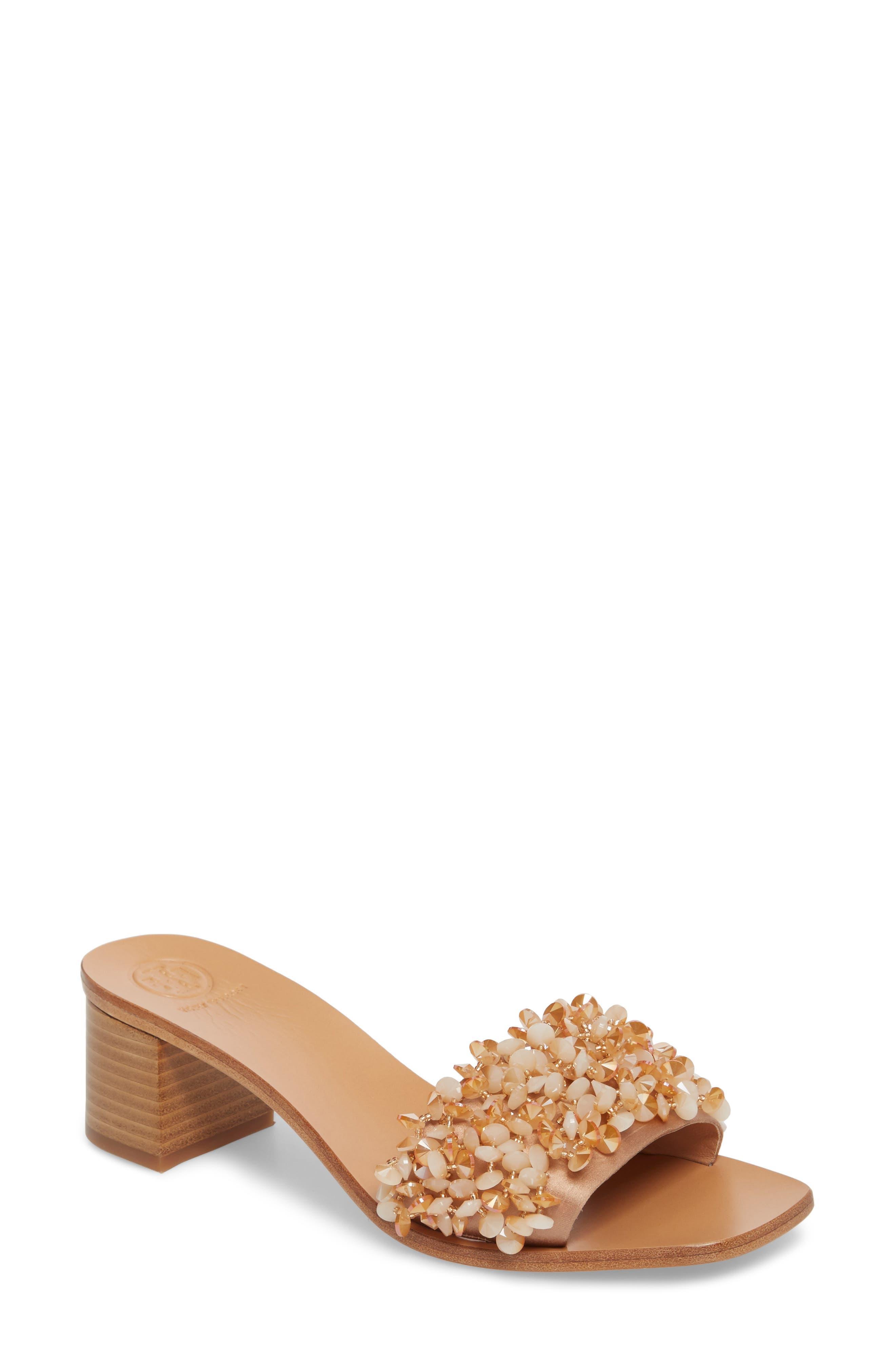 Tory Burch Logan Embellished Slide Sandal (Women)